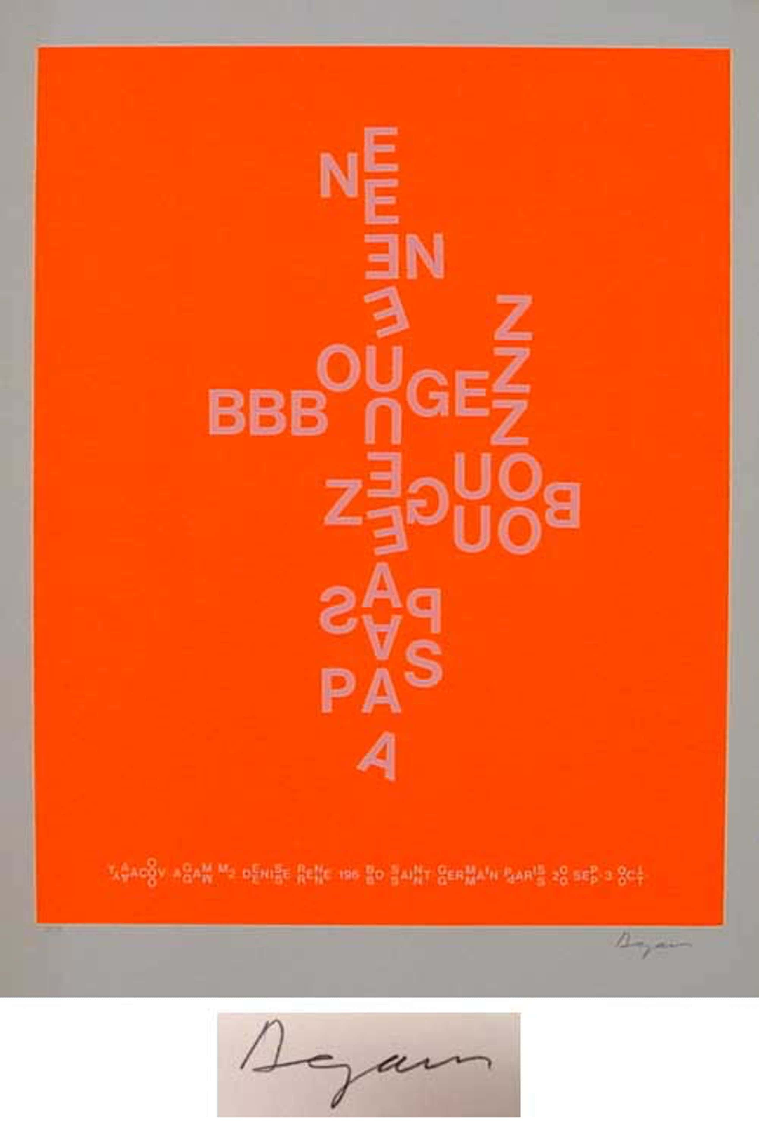 "Yaacov Agam - ""ne bougez pas"" 4 Serigrafien (pink/orange/blau/gelb), alle handsigniert/num. kopen? Bied vanaf 860!"