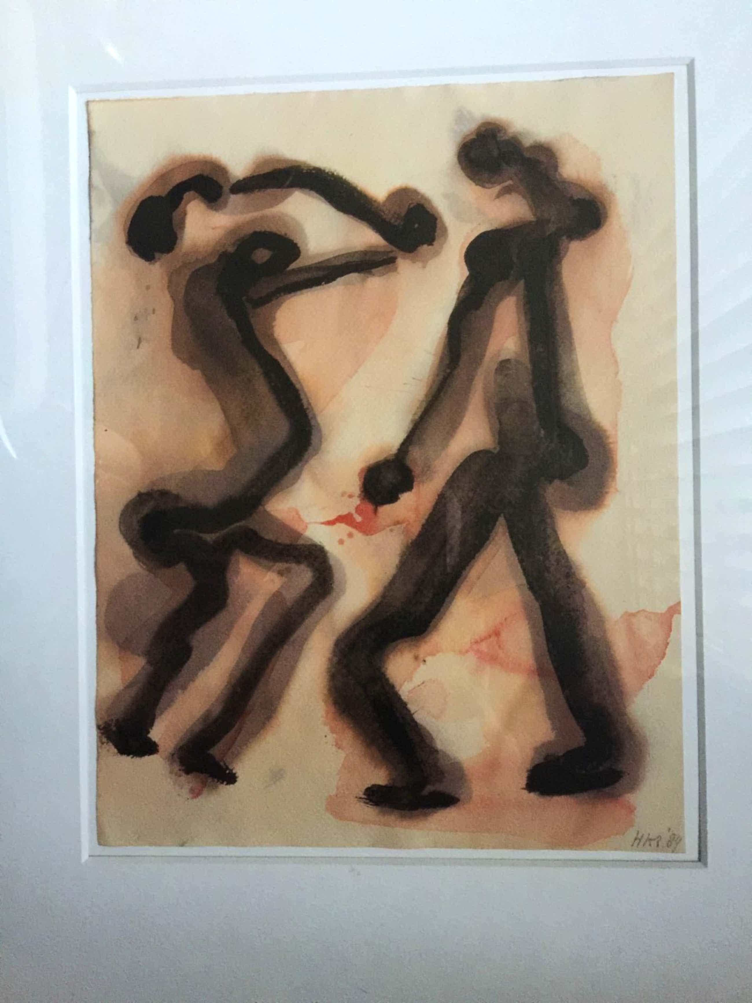 Herman Krikhaar - aquarel uit 1984 kopen? Bied vanaf 149!
