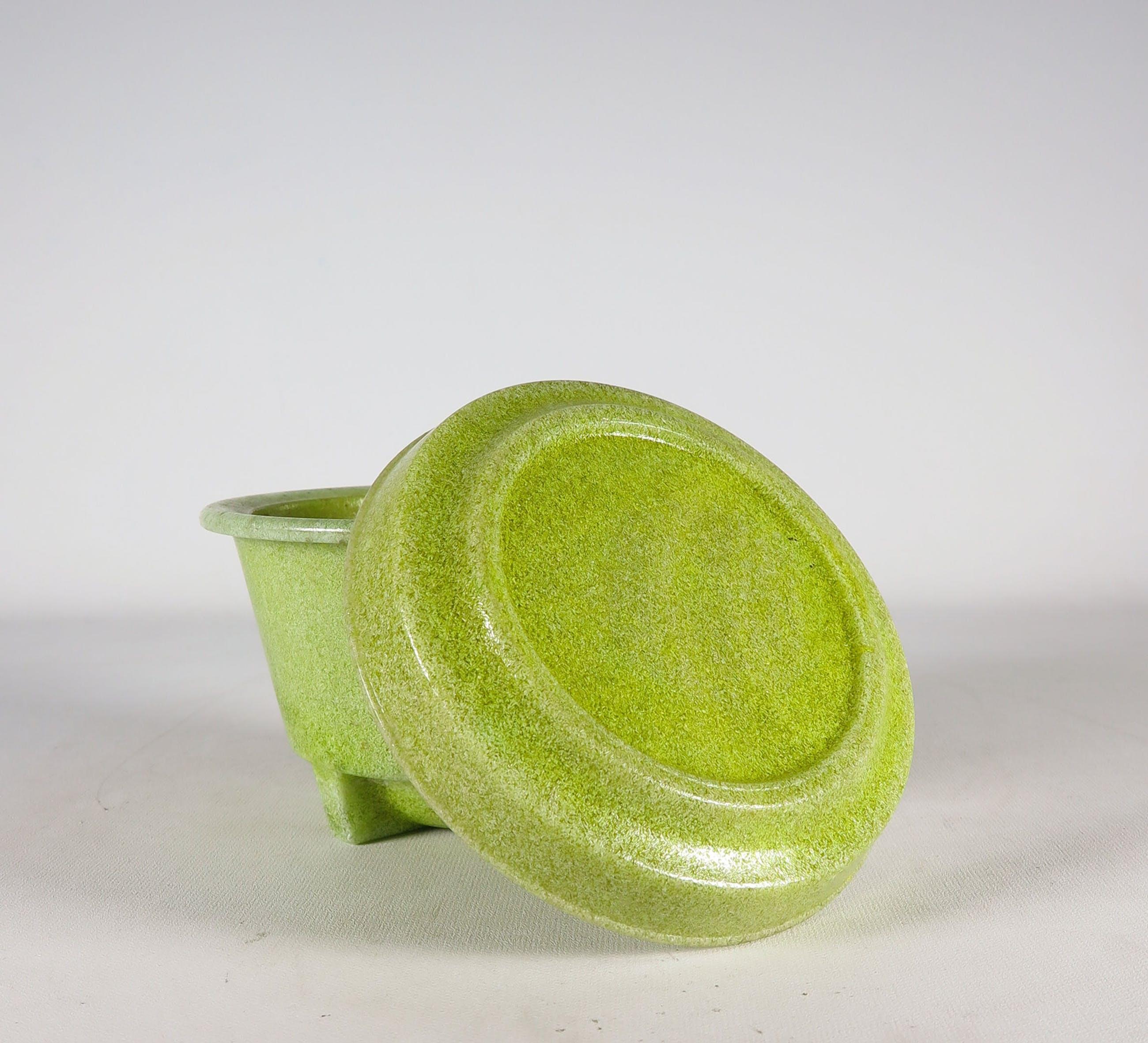 Andries Dirk Copier - Graniver, Bloempot op onderschotel ''Walu'' door Glasfabriek Leerdam kopen? Bied vanaf 80!