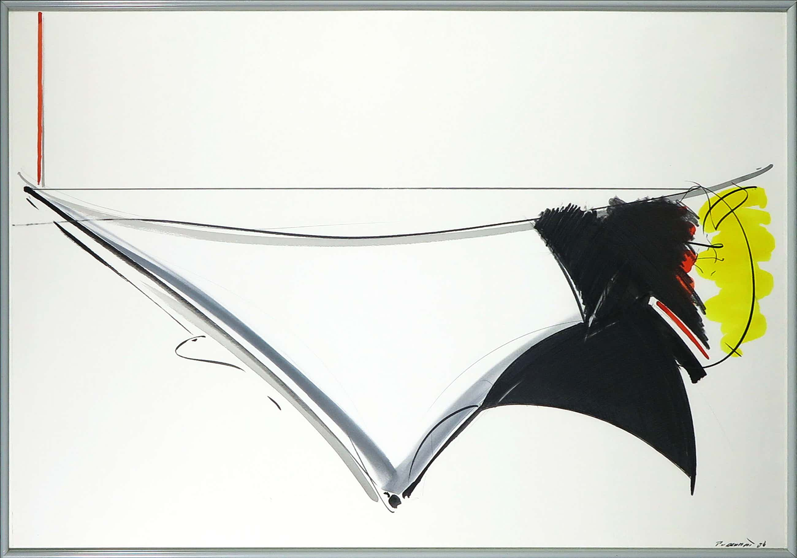 Peter van Drumpt - Aquarel, Abstracte compositie - Ingelijst (Groot) kopen? Bied vanaf 40!