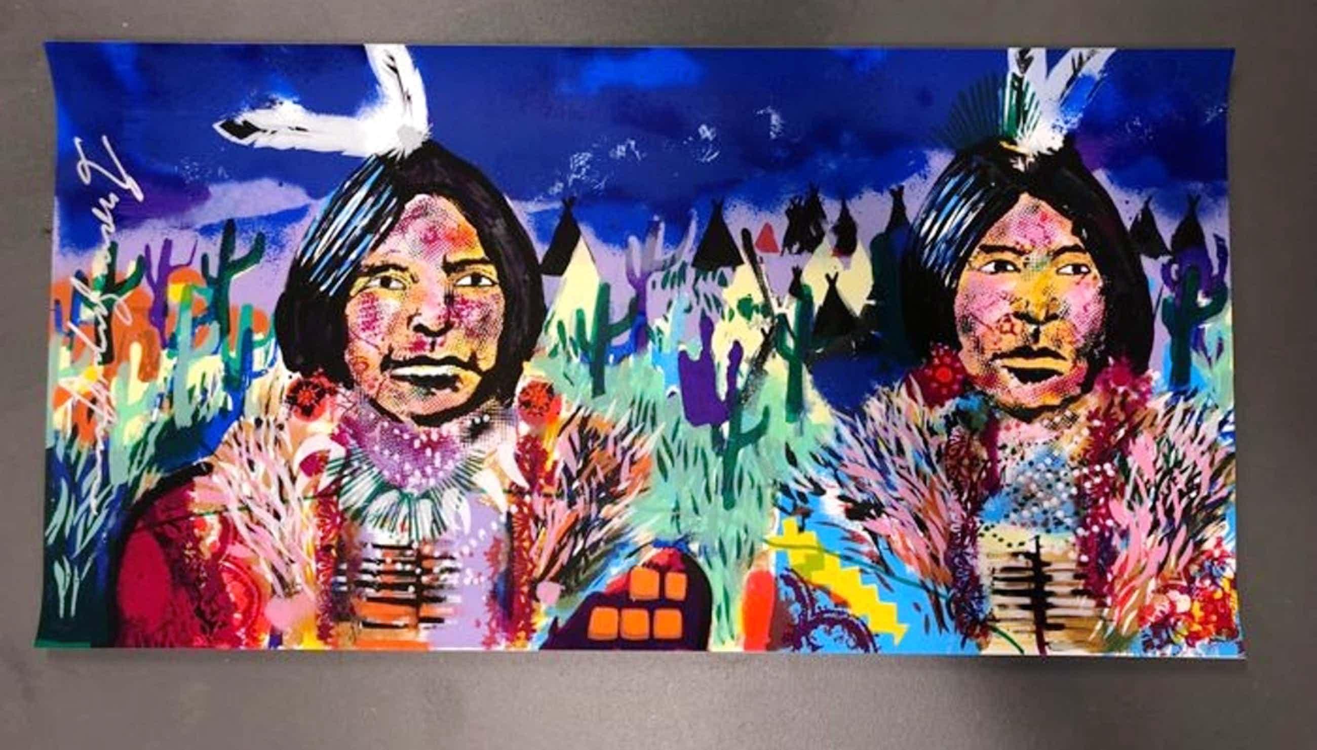 Espen Hagen - Espen Greger Hagen - Indians - gesigneerde zeefdruk op papier kopen? Bied vanaf 100!