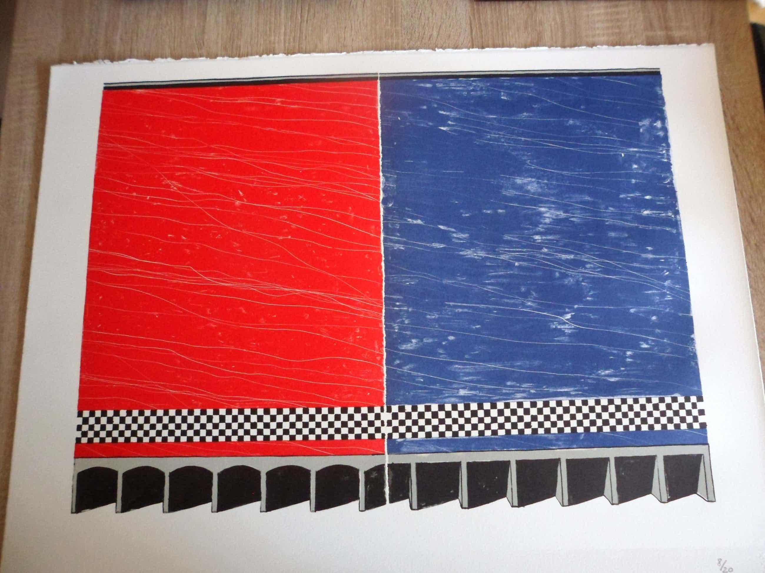 "Ko Aarts - Zeefdruk, Titel: ""Finishing touch"". Kleine oplage 20 stuks kopen? Bied vanaf 40!"