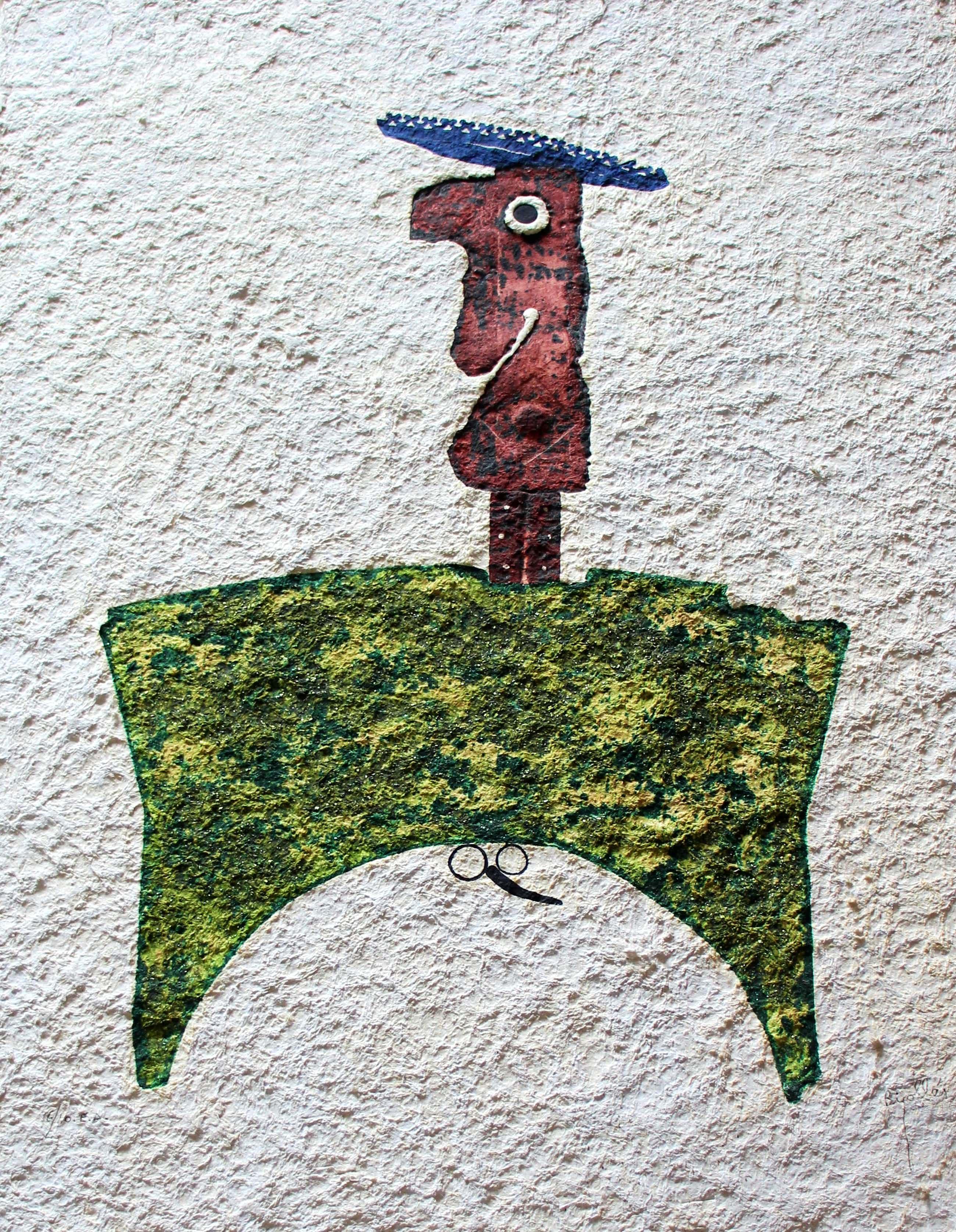 Juan Garcia Ripolles - reliefdruk: Le Coq couronné - kopen? Bied vanaf 270!