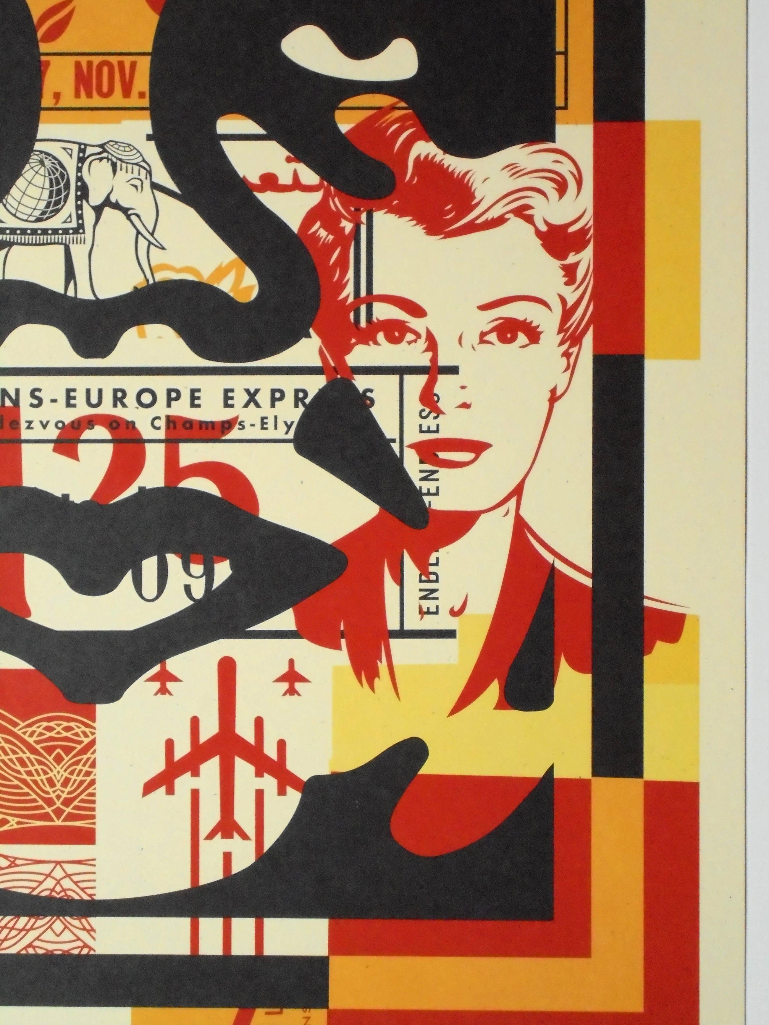 Shepard Fairey - (OBEY) - Face Collage II - offset - handgesigneerd kopen? Bied vanaf 69!