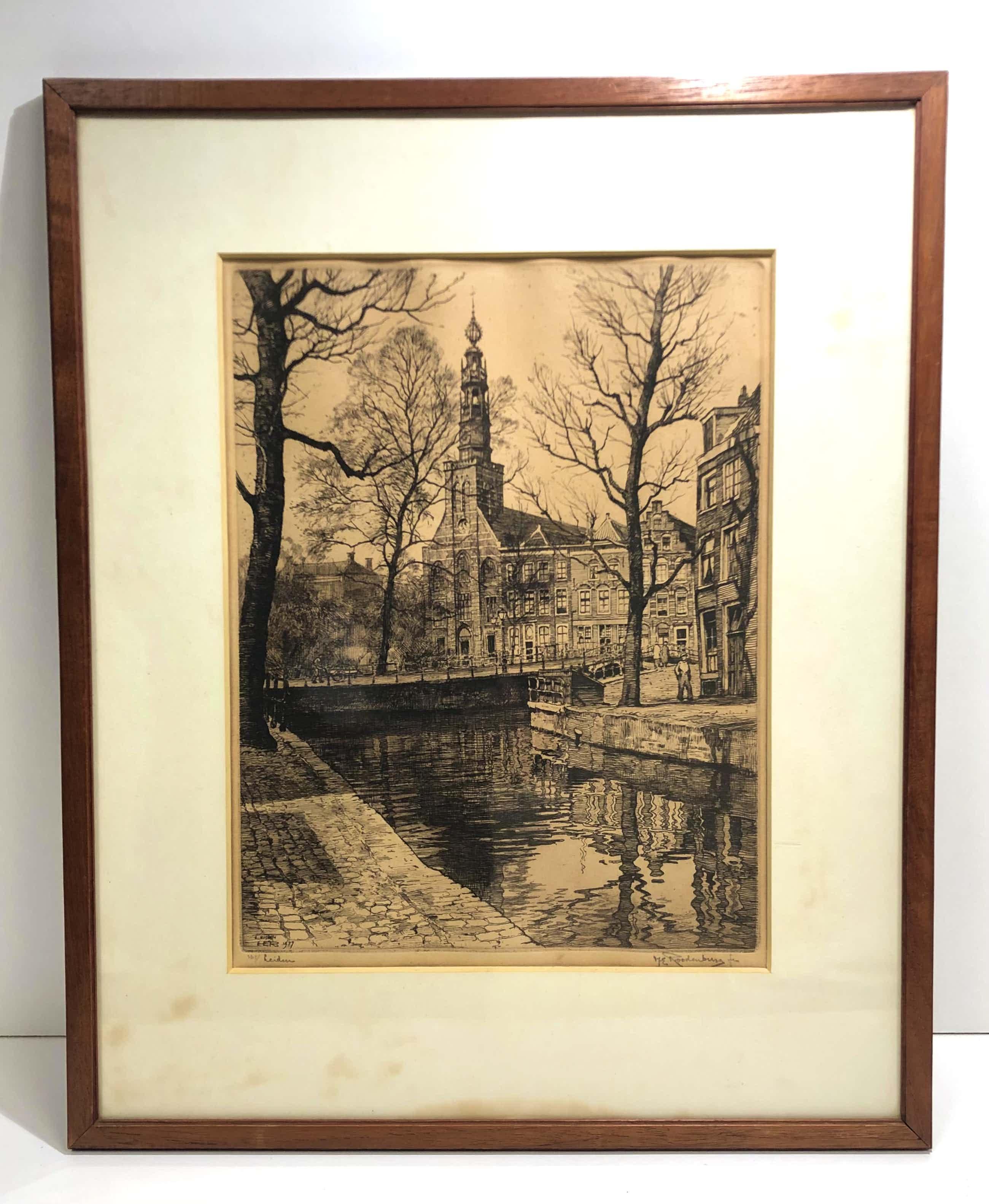 Hendrikus Roodenburg - Stadsgezicht Leiden kopen? Bied vanaf 50!