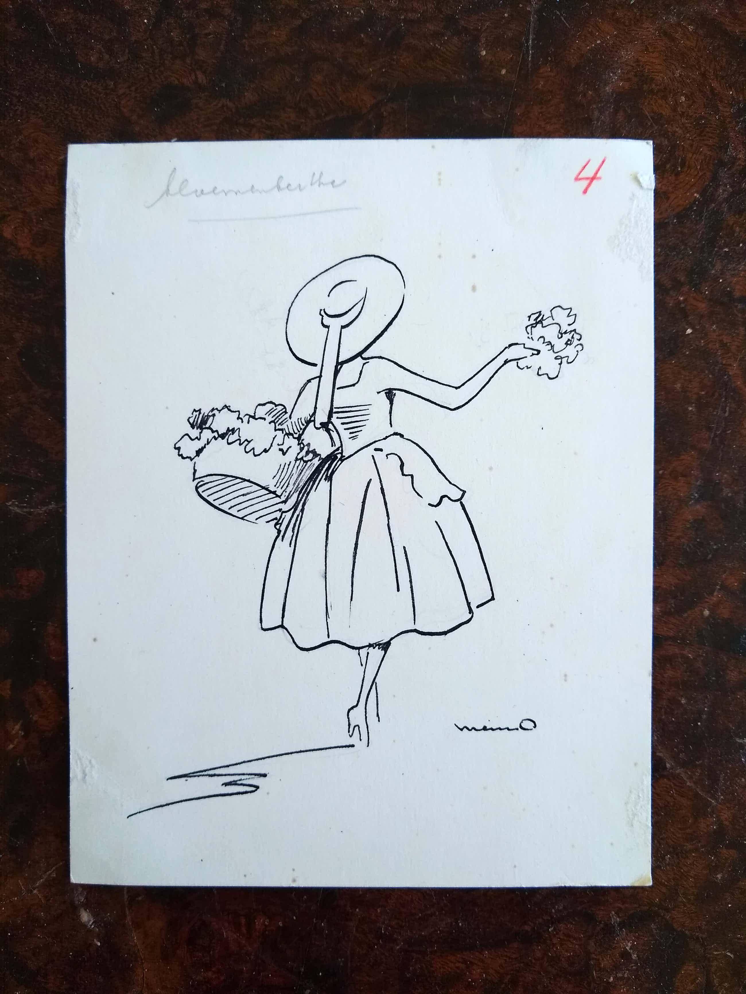 Menno van Meeteren Brouwer - Meisje met bloemen kopen? Bied vanaf 80!