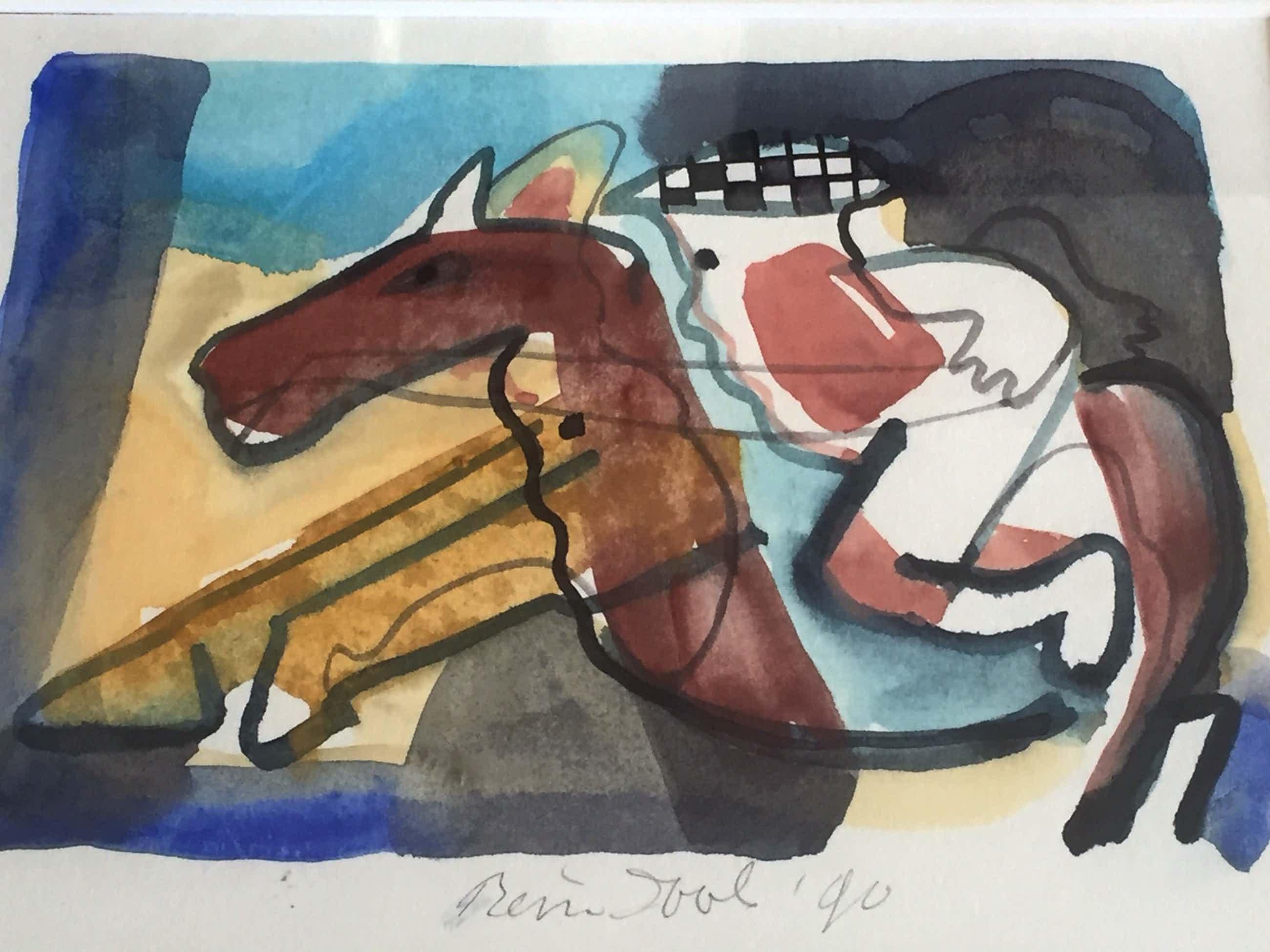 Rein Dool - Expressief van kleur en vorm: ruiter te paard kopen? Bied vanaf 85!