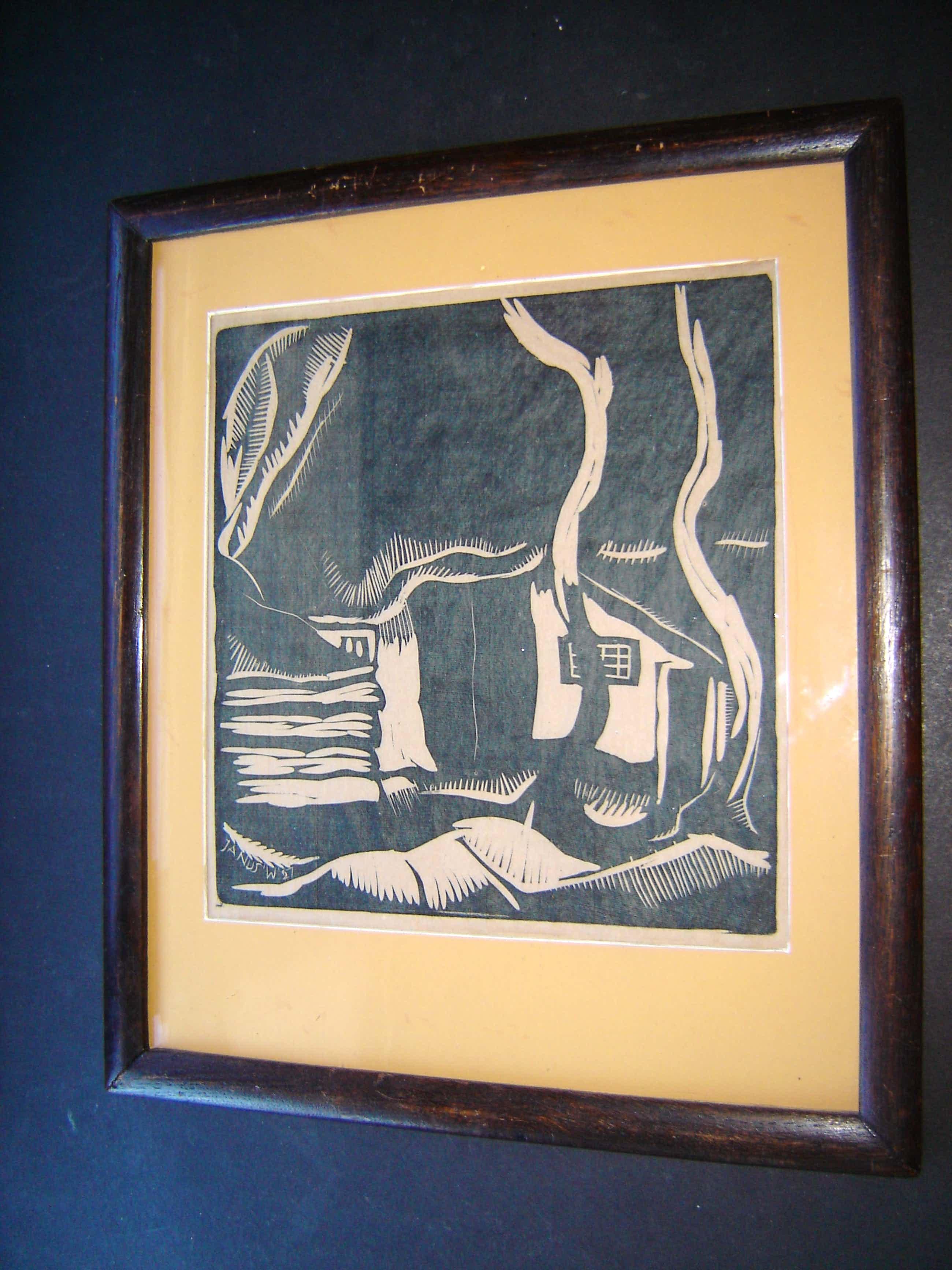 Jaap Wagemaker - houtdruk 1927 kopen? Bied vanaf 90!