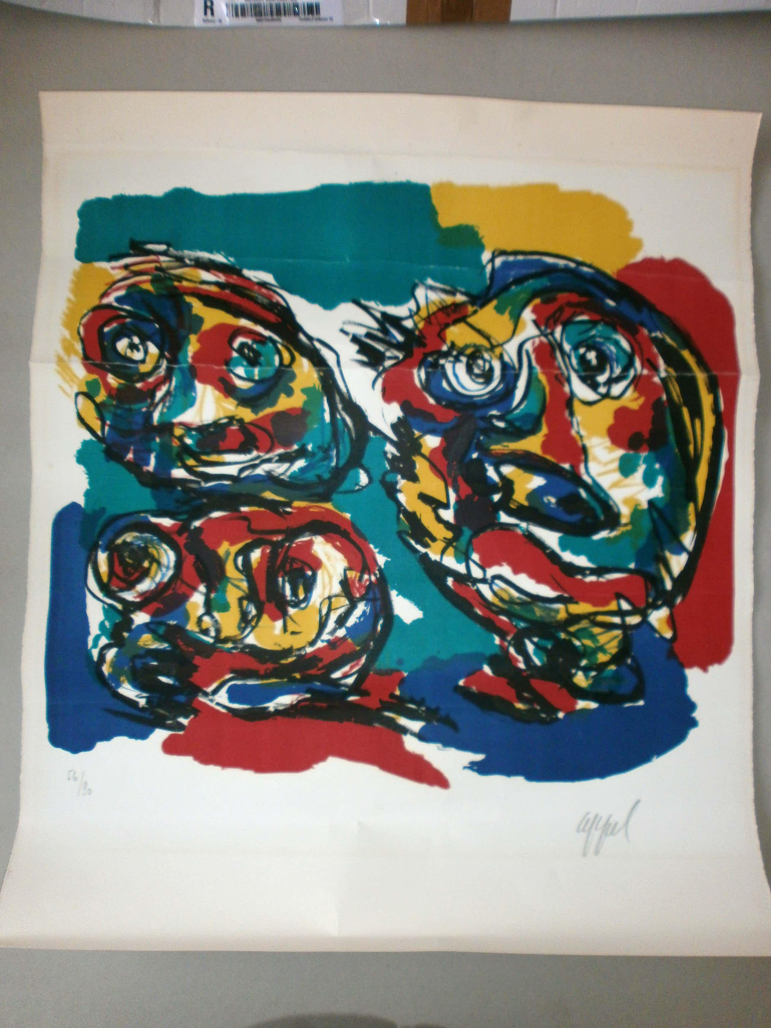 Karel Appel - three heads kopen? Bied vanaf 170!