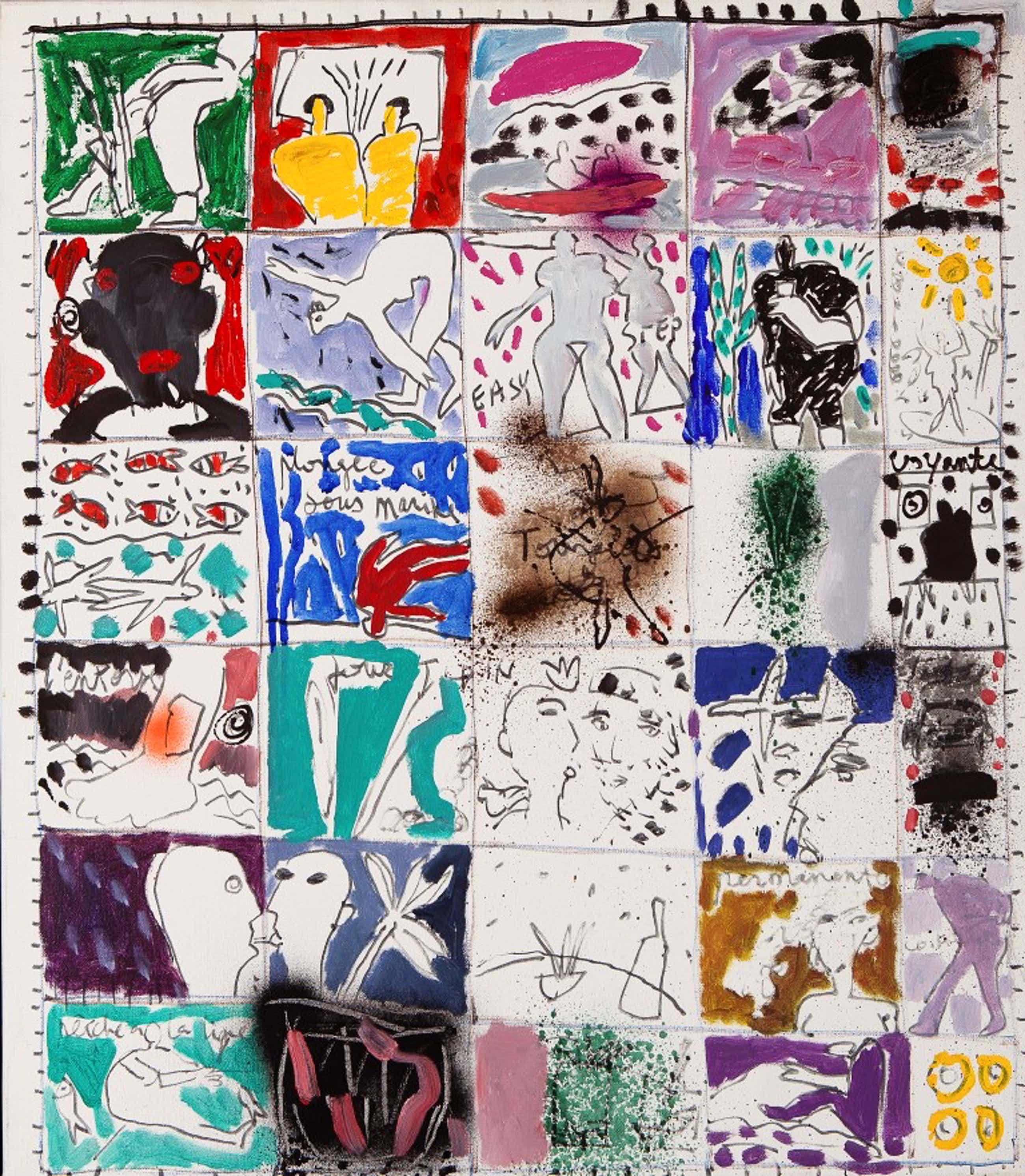 Dominique Chan - Zonder titel - 1994 - acrylverf op doek kopen? Bied vanaf 80!