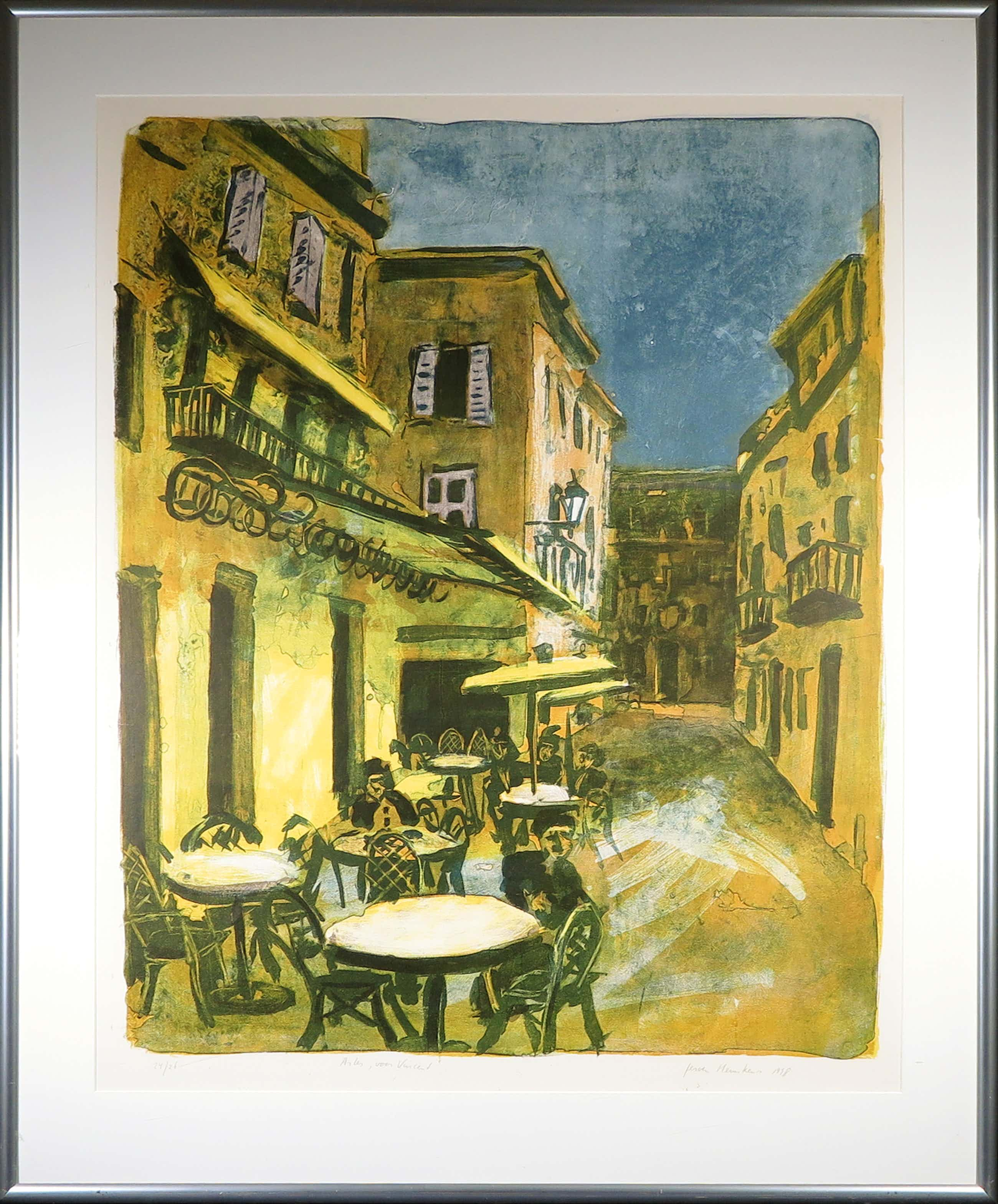 Jeroen Hermkens - Litho, Arles, voor Vincent - Ingelijst (Zeer Groot!) kopen? Bied vanaf 220!