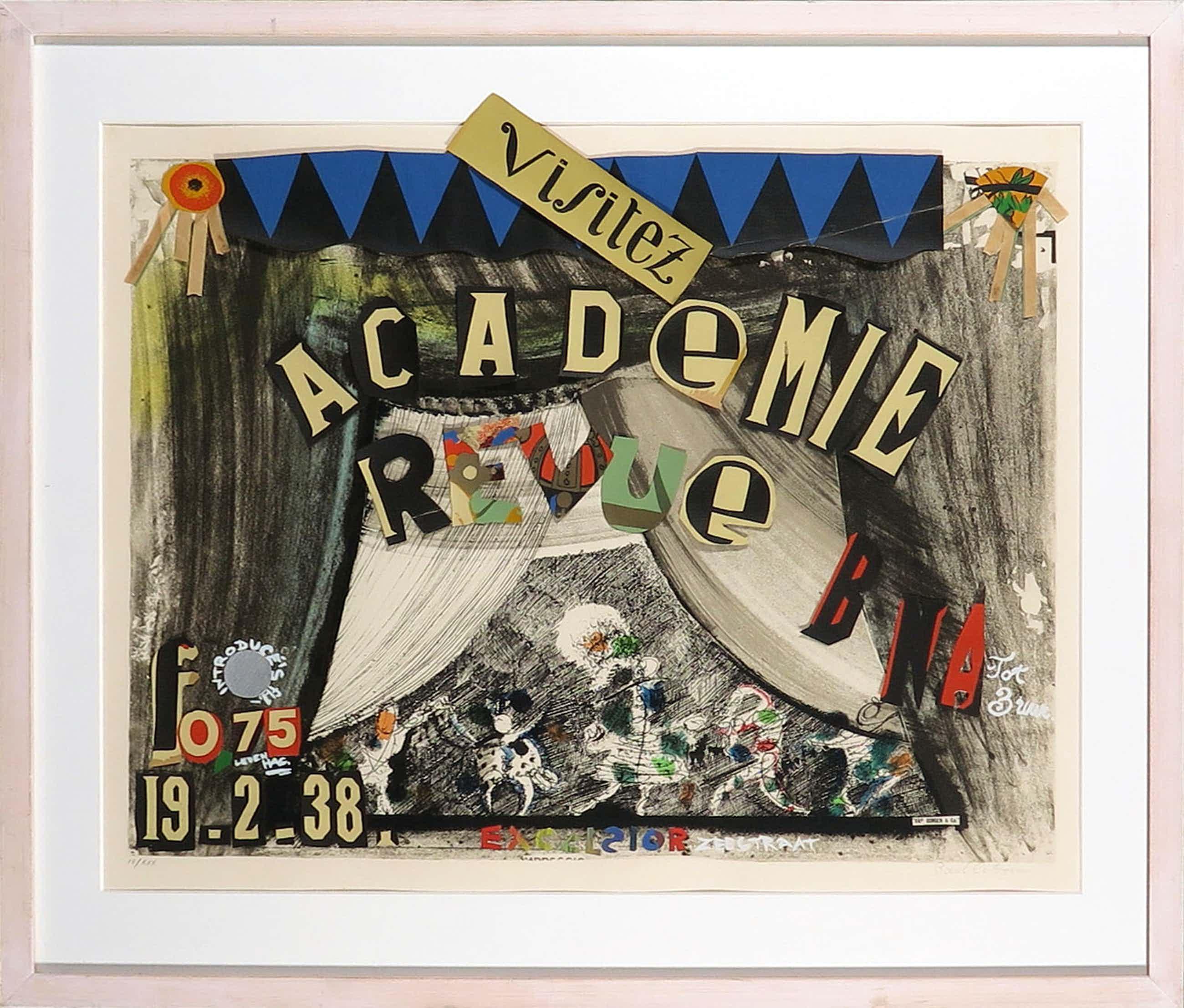 Paul Citroen - Litho en collage, Academie Revue - Ingelijst kopen? Bied vanaf 100!