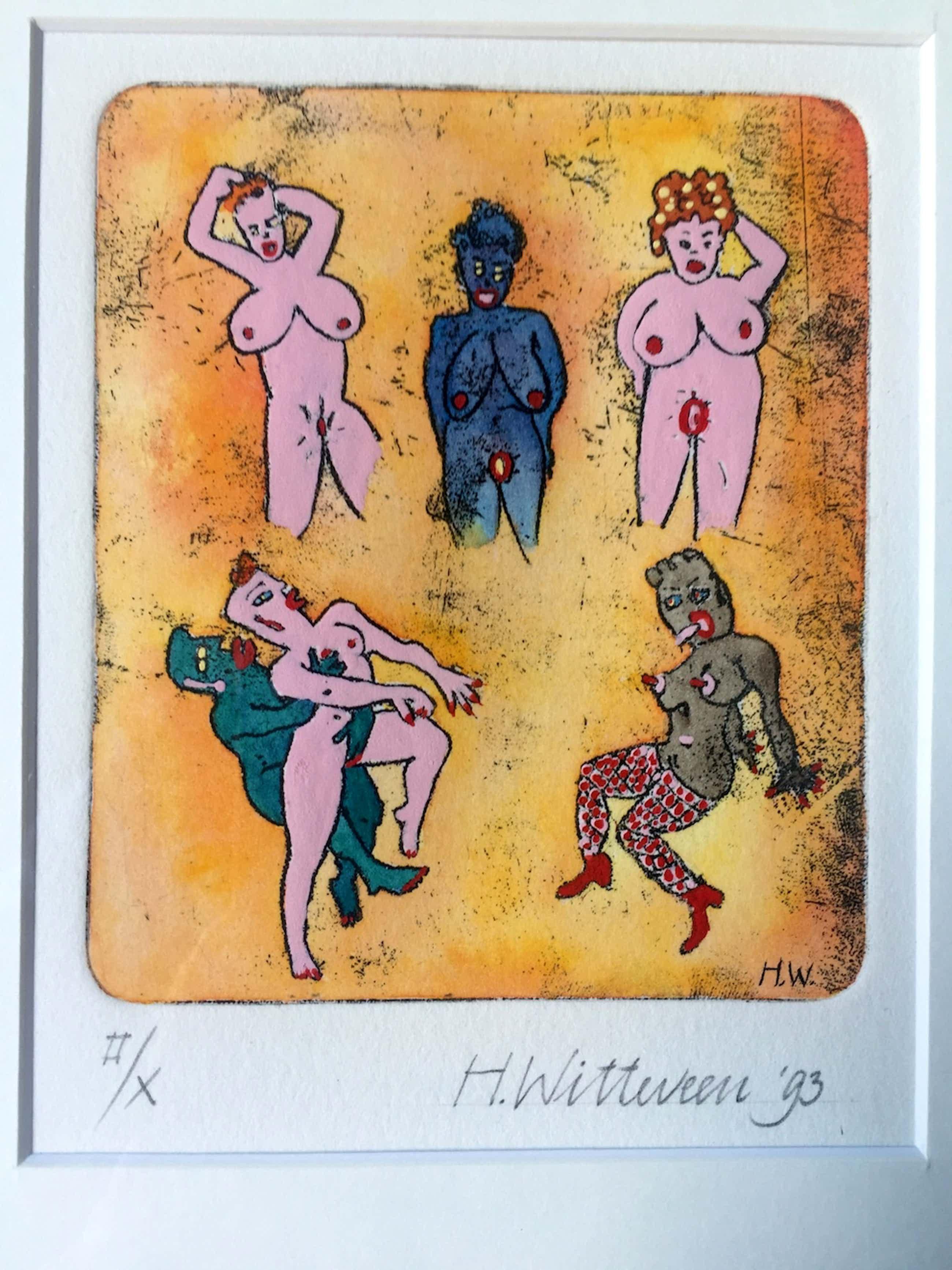 Hollie Witteveen - Naakte Vrouwen - Kleurets, Ingelijst kopen? Bied vanaf 40!