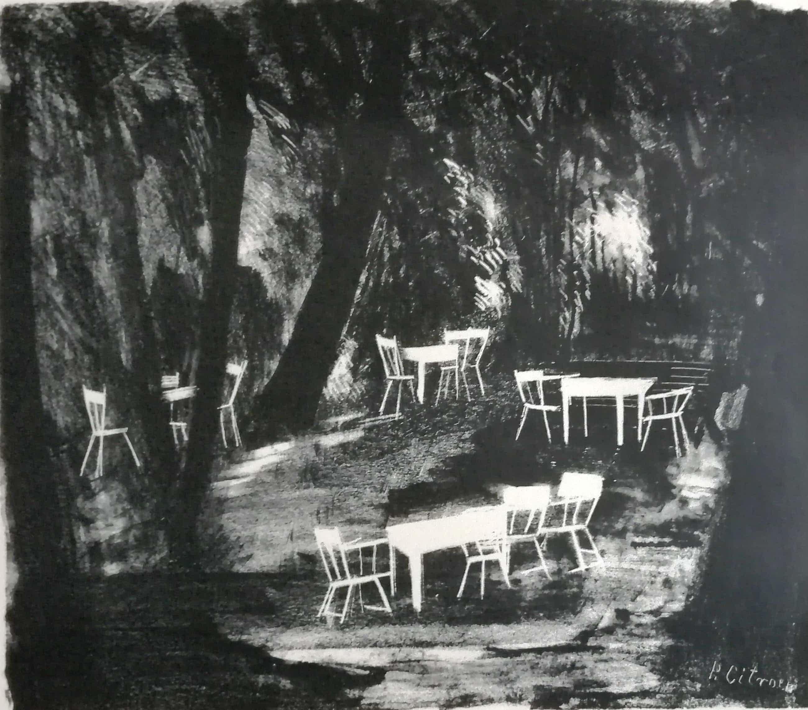 Paul Citroen - Cafétuin met witte stoelen kopen? Bied vanaf 70!