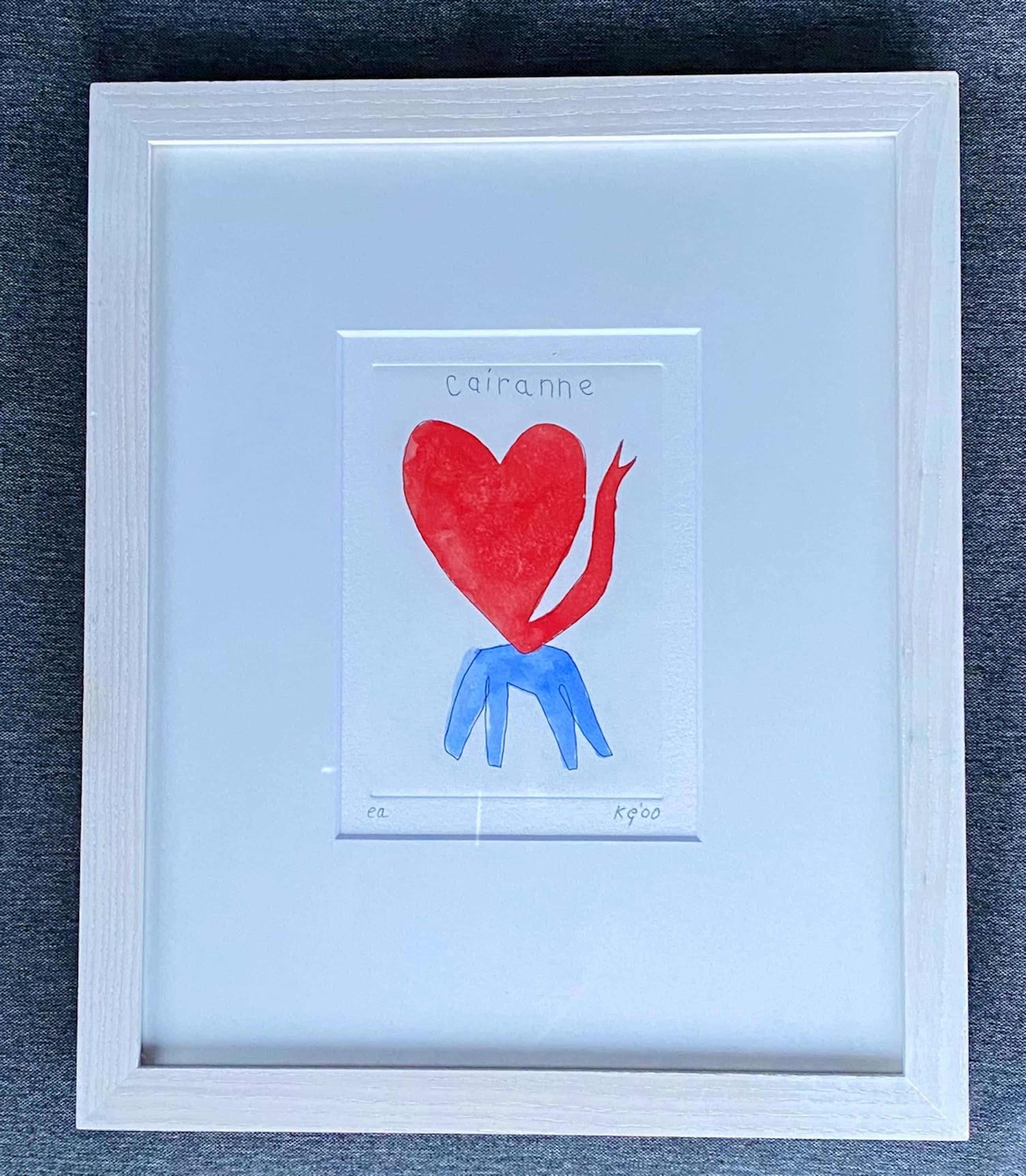 Klaas Gubbels - ingekleurde ets Hart kopen? Bied vanaf 340!