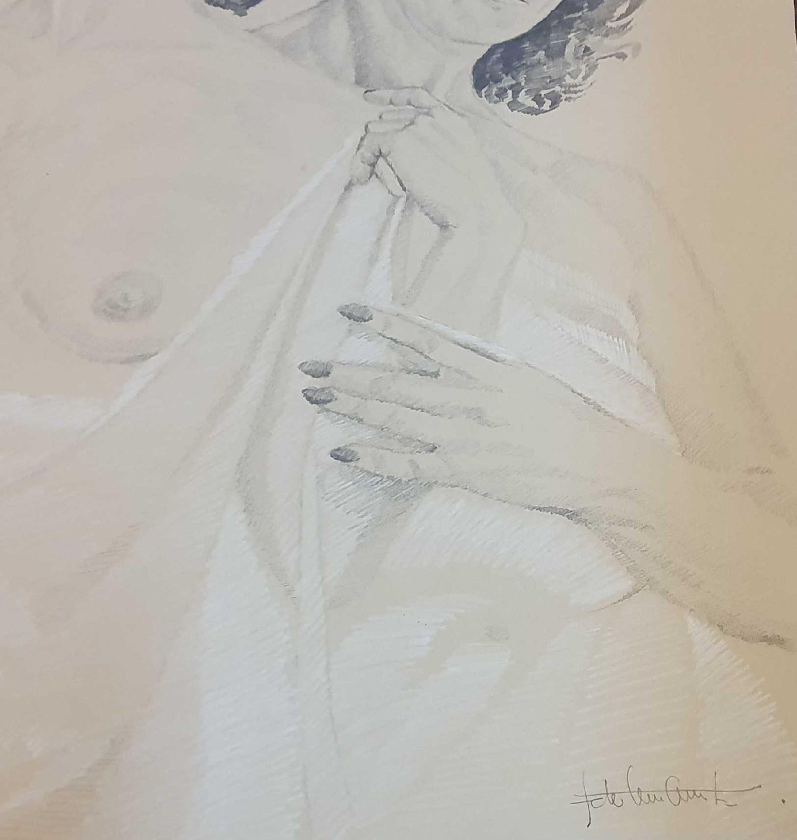 Ido Vunderink - potlood tekening kopen? Bied vanaf 75!