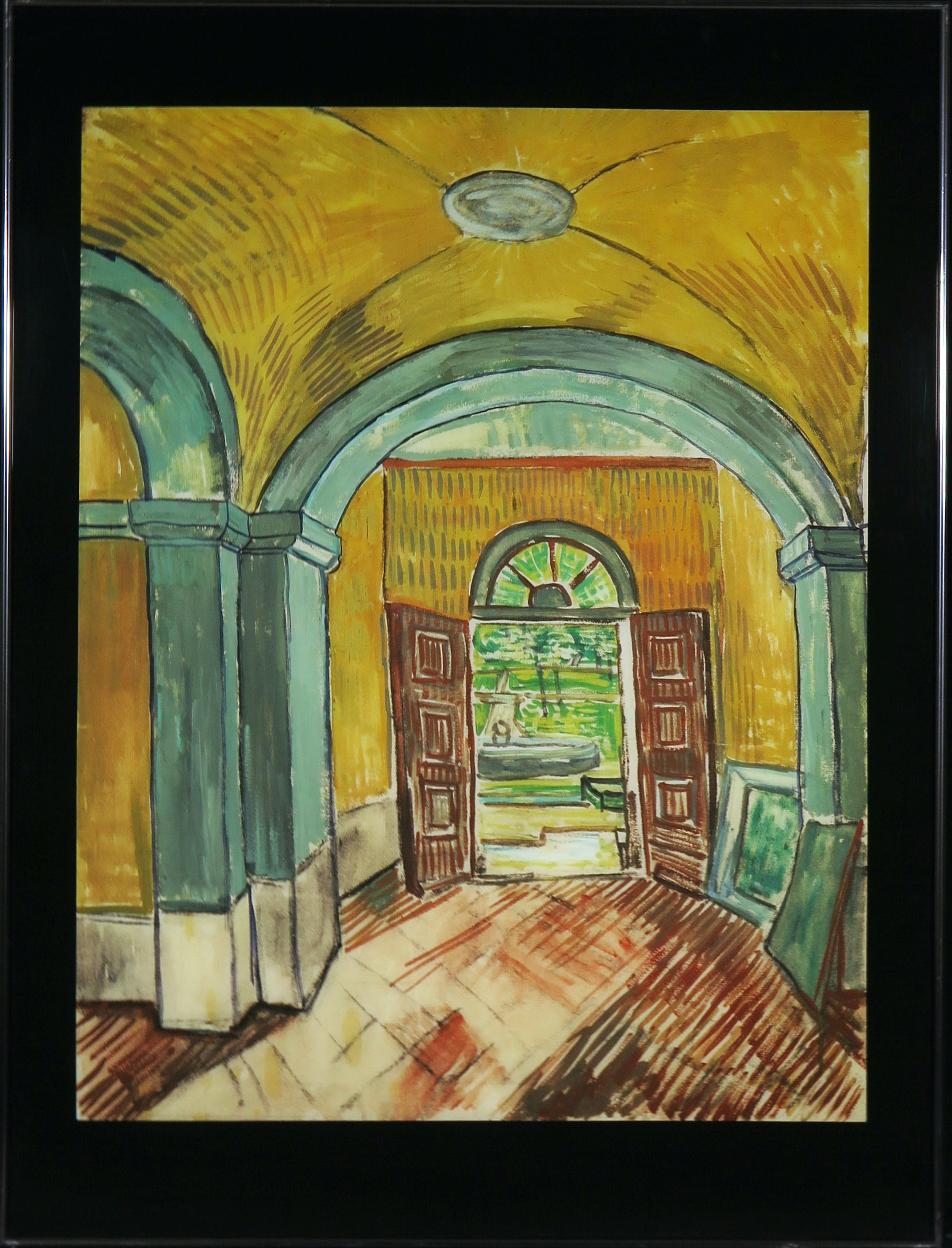 Paul Huf - Foto, Vestibule in the Asylum - Vincent van Gogh - Ingelijst kopen? Bied vanaf 1!
