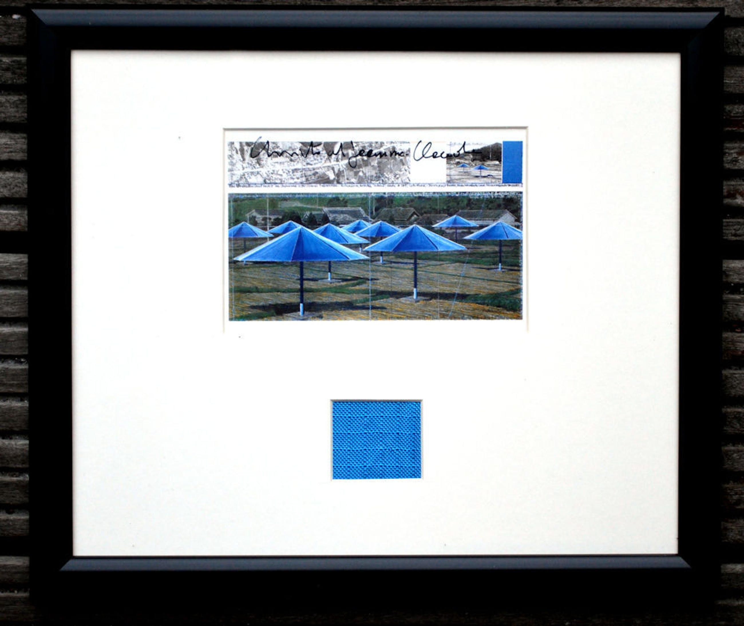 Christo - Umbrellas Japan, collage handgesigneerd kopen? Bied vanaf 80!