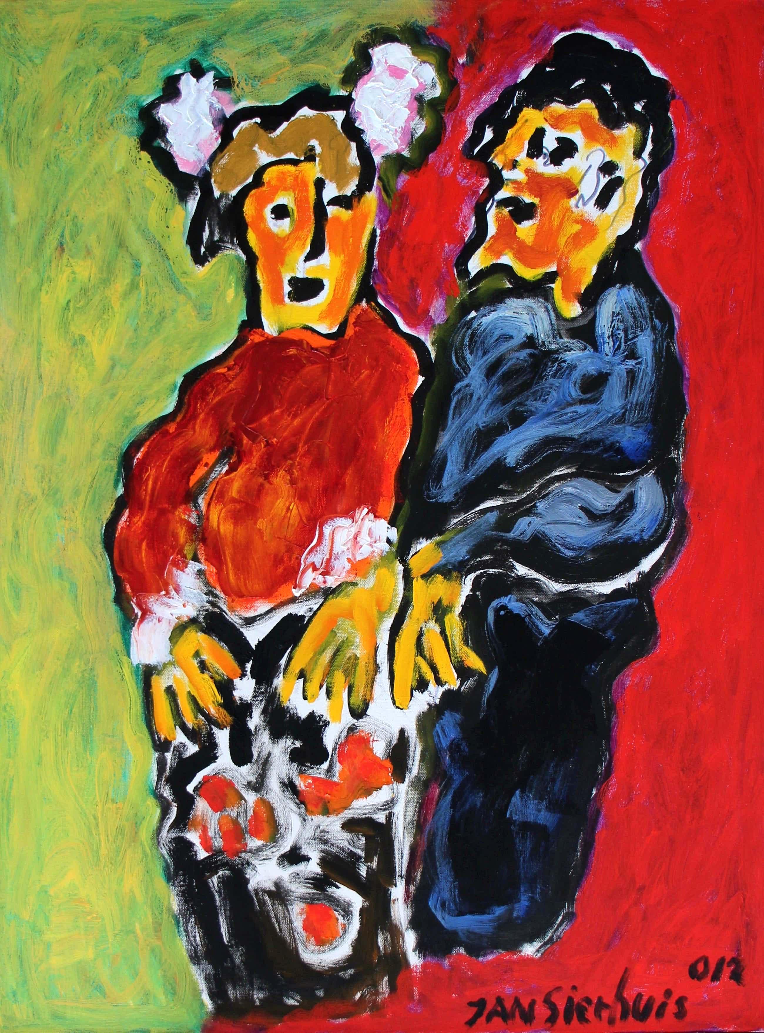 Jan Sierhuis - acryl op doek : Spaanse dans - 2012 kopen? Bied vanaf 595!