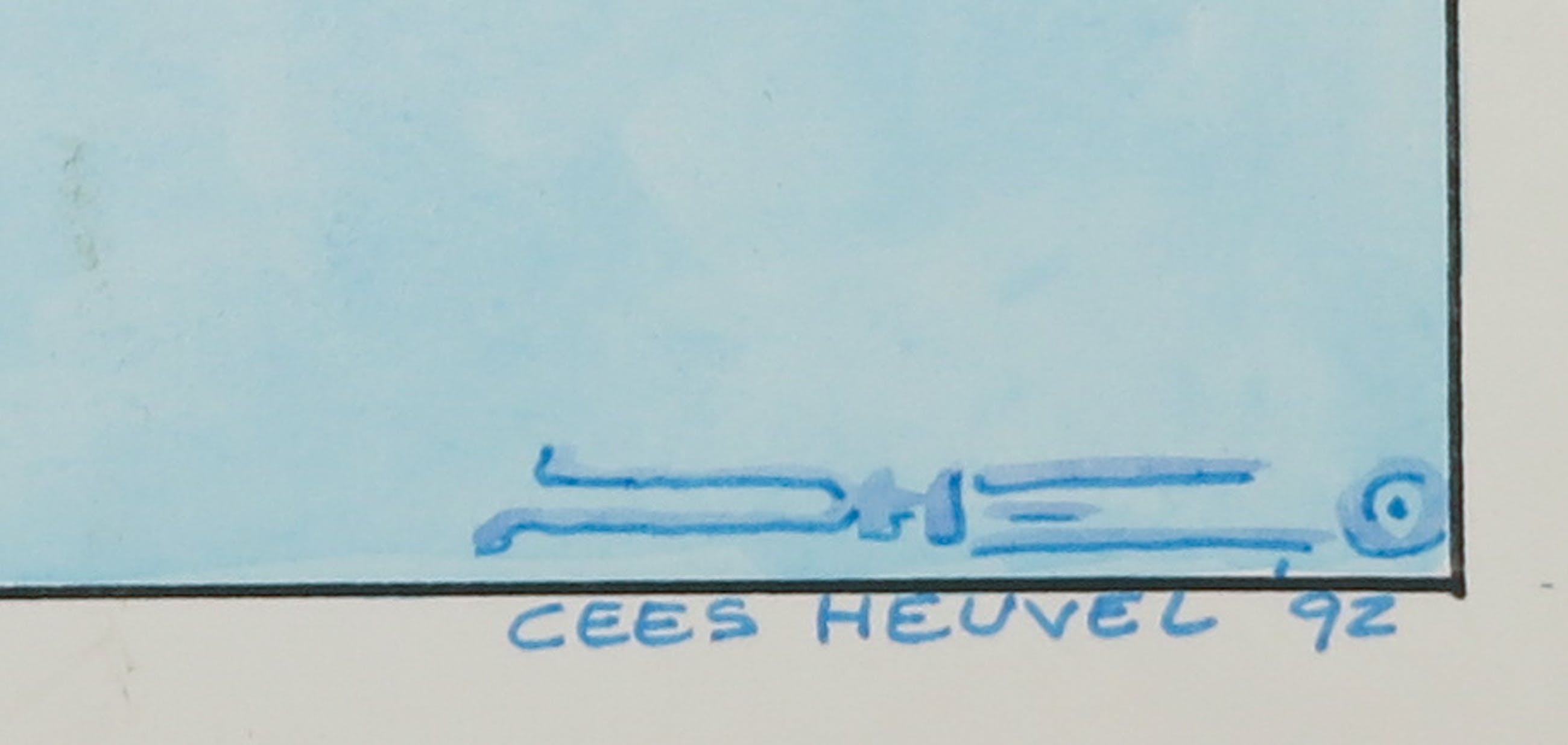 Cees Heuvel - Stifttekening, Zonder titel kopen? Bied vanaf 40!