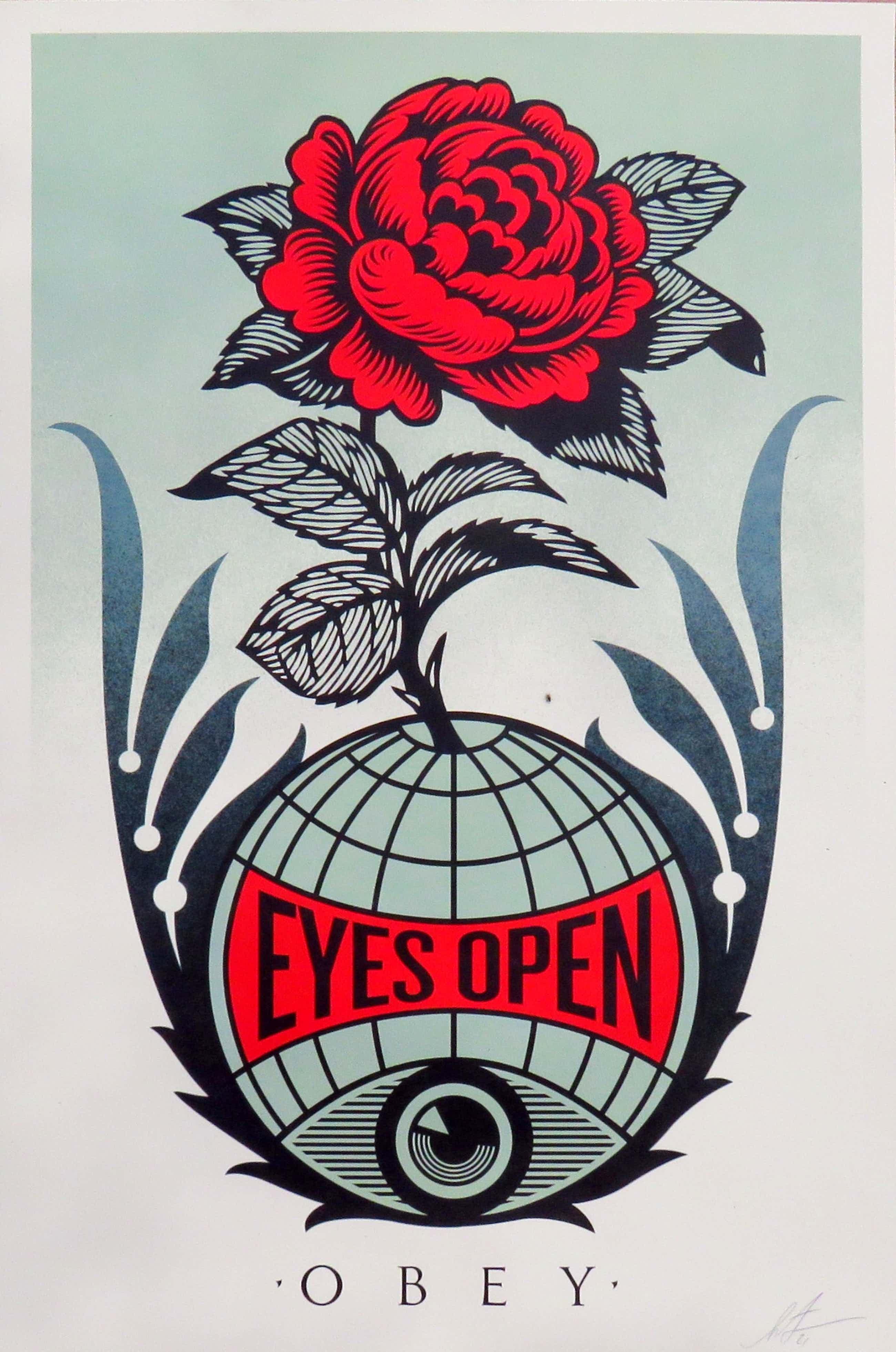 Shepard Fairey - Eyes Open kopen? Bied vanaf 50!