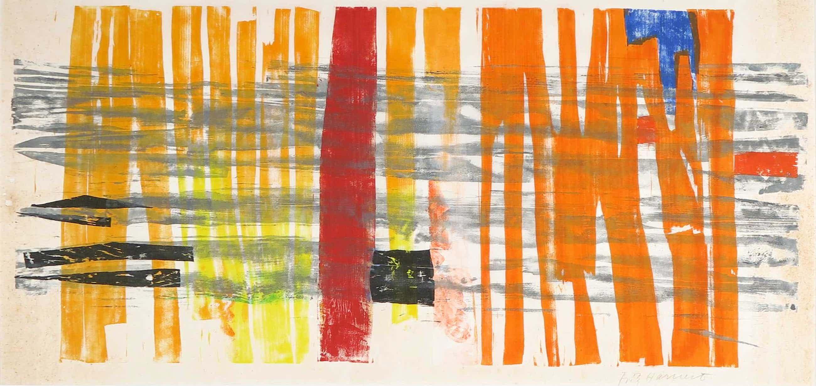 Niet of onleesbaar gesigneerd - Monotype, Abstracte compositie kopen? Bied vanaf 3!