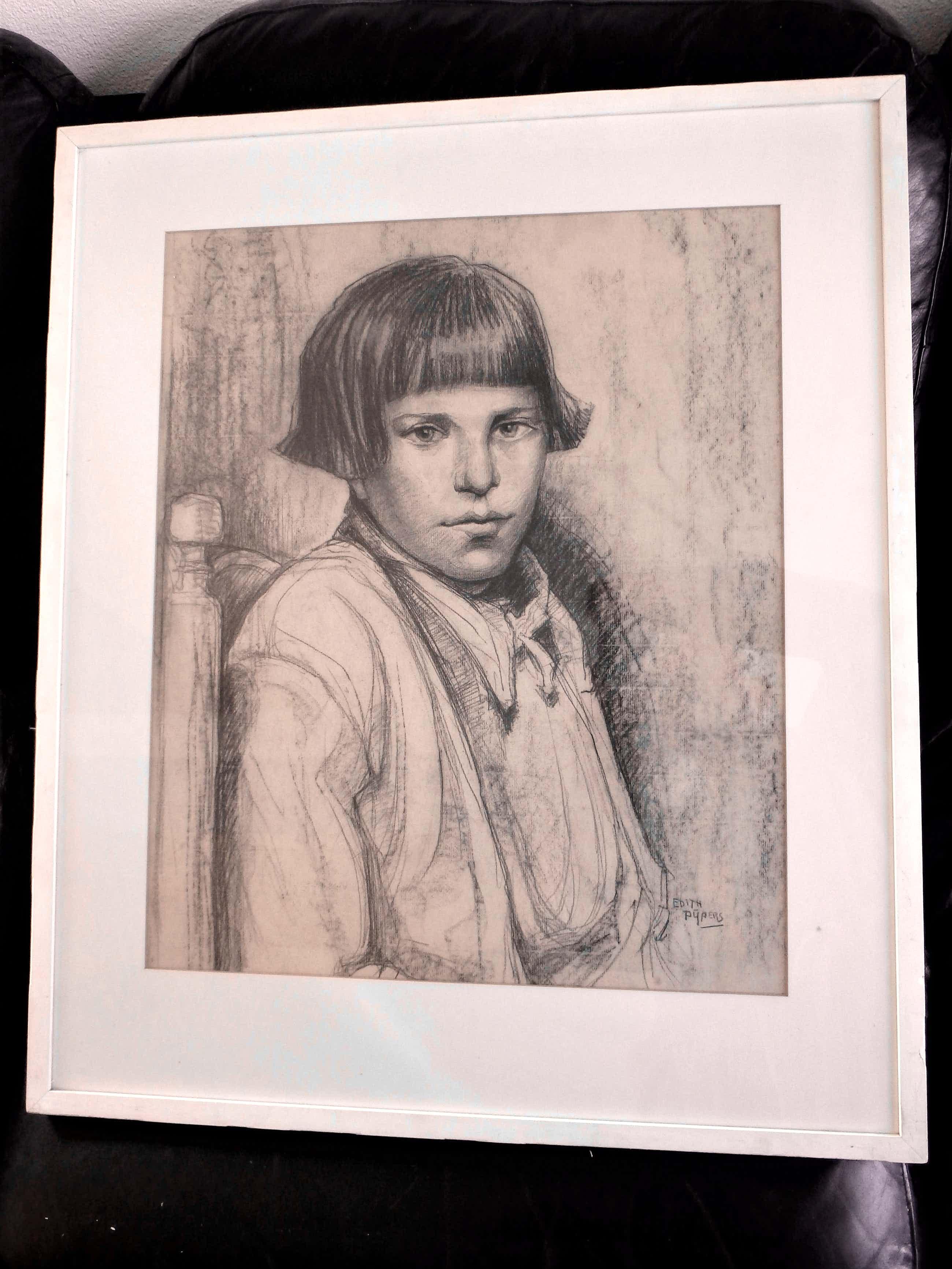 Edith Pijpers - Portret van mooi meisje (Edith zelf ?) kopen? Bied vanaf 100!