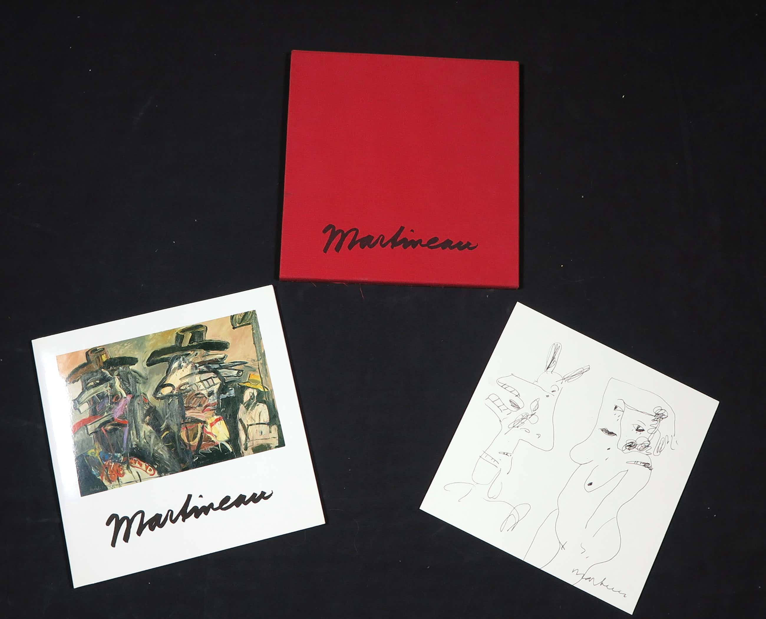 Anton Martineau - Pentekening + overzichtscatalogus in linnen cassette, Zonder titel kopen? Bied vanaf 35!