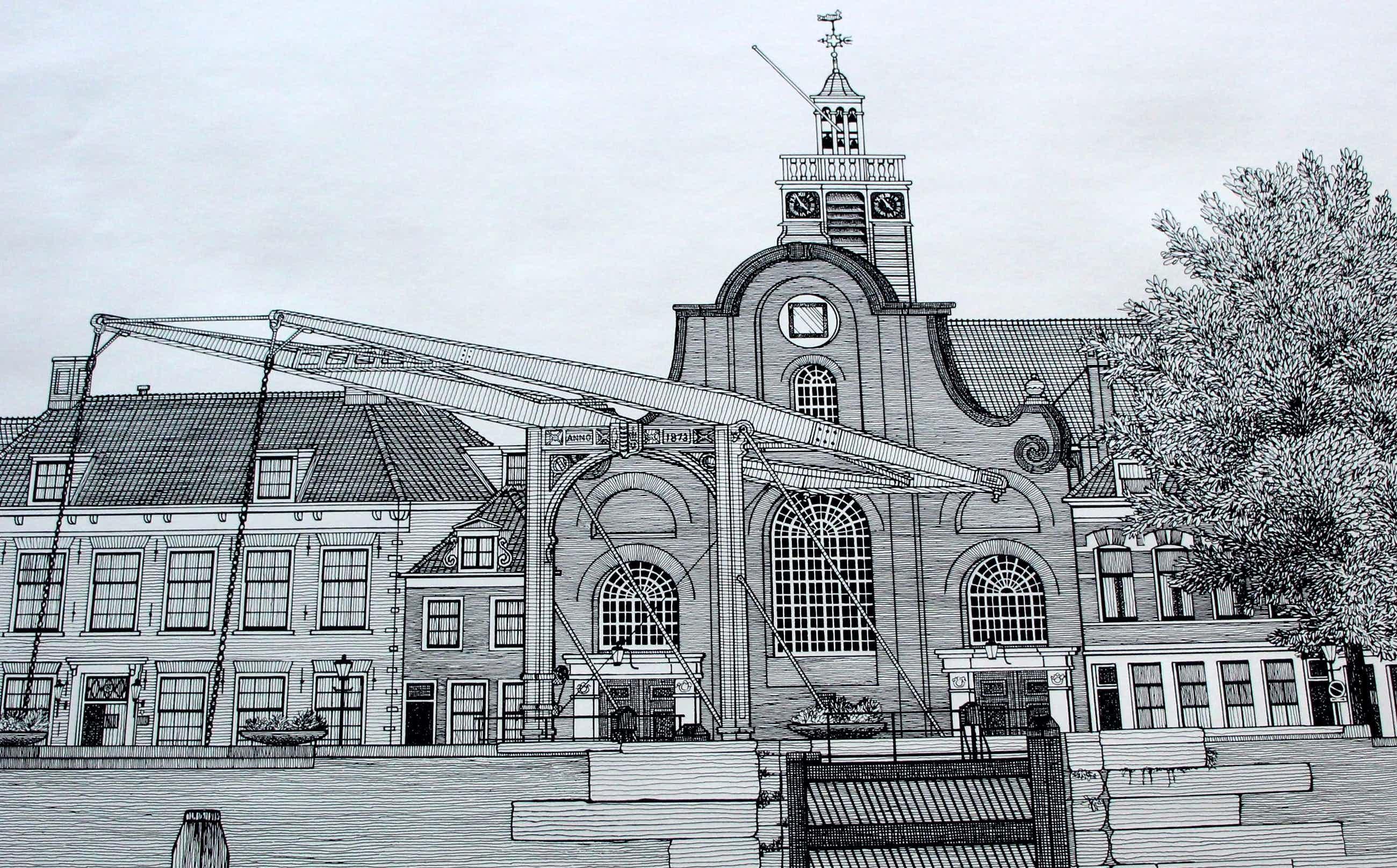 Sees Vlag - Zeefdruk: Rotterdam Delfshaven - 1979 kopen? Bied vanaf 99!