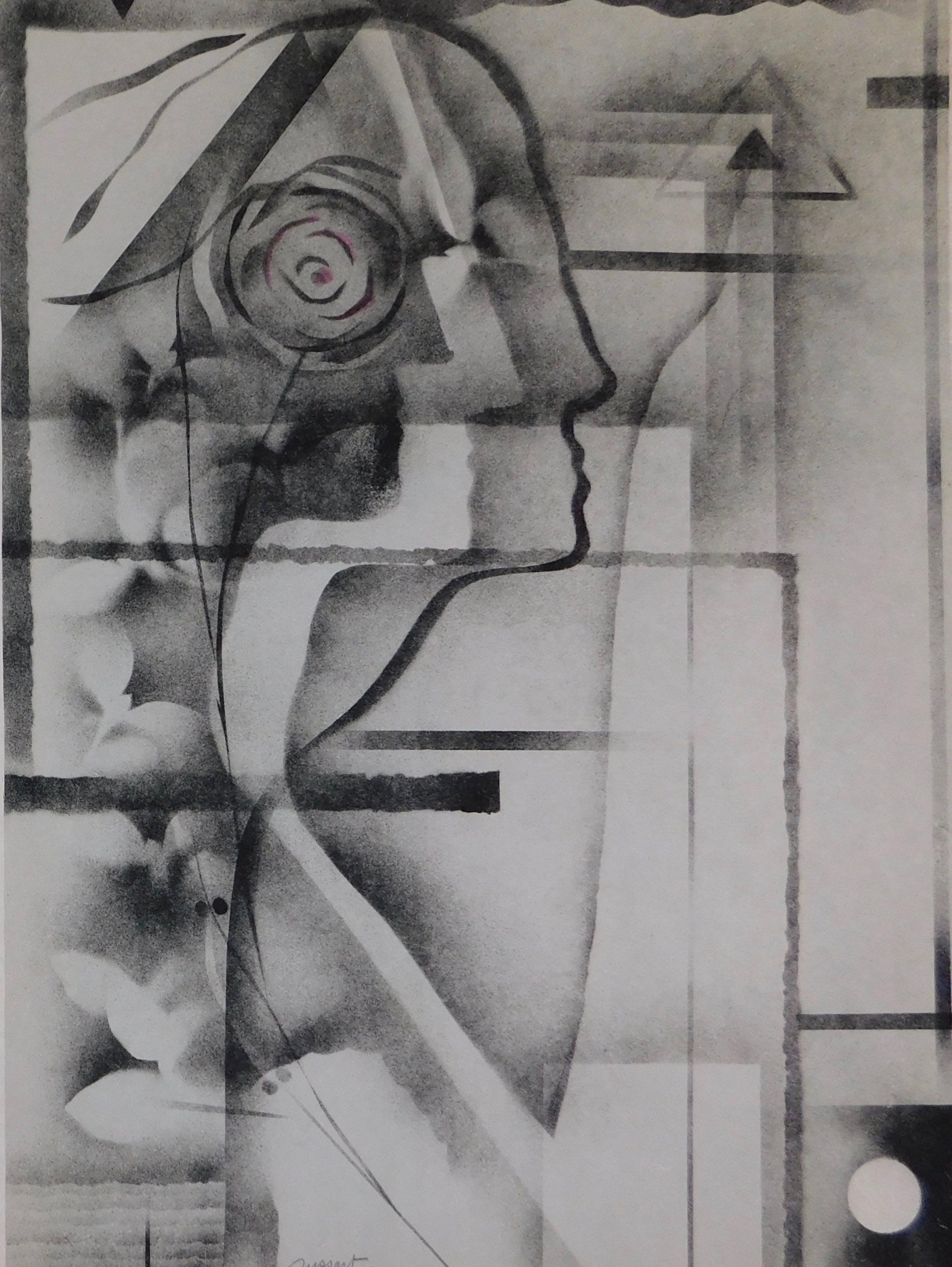 Gislain Dussart - Composition with Rose kopen? Bied vanaf 15!