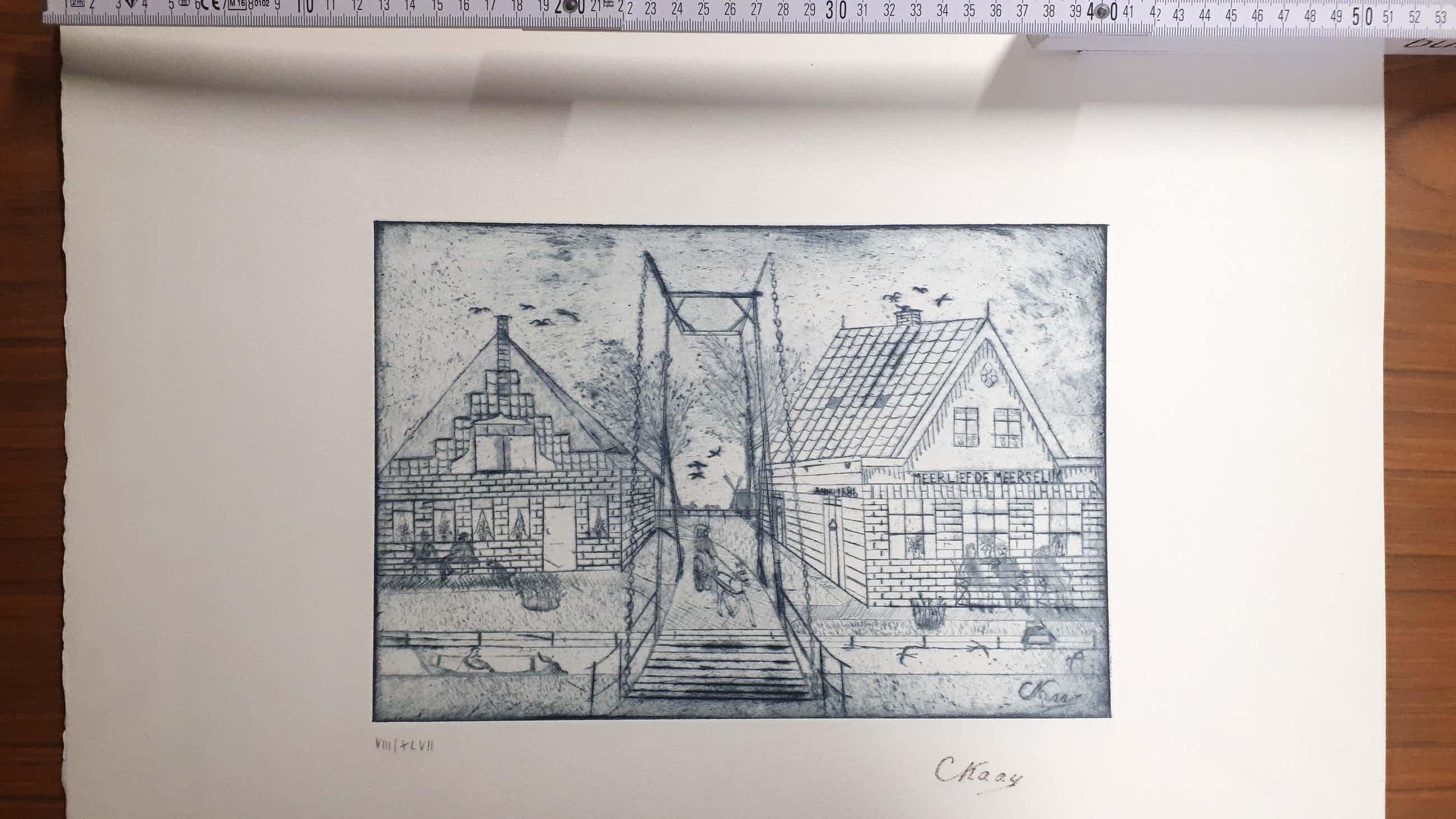 Cornelis Kaay - Bei uns in einem holländischen Dorf kopen? Bied vanaf 40!