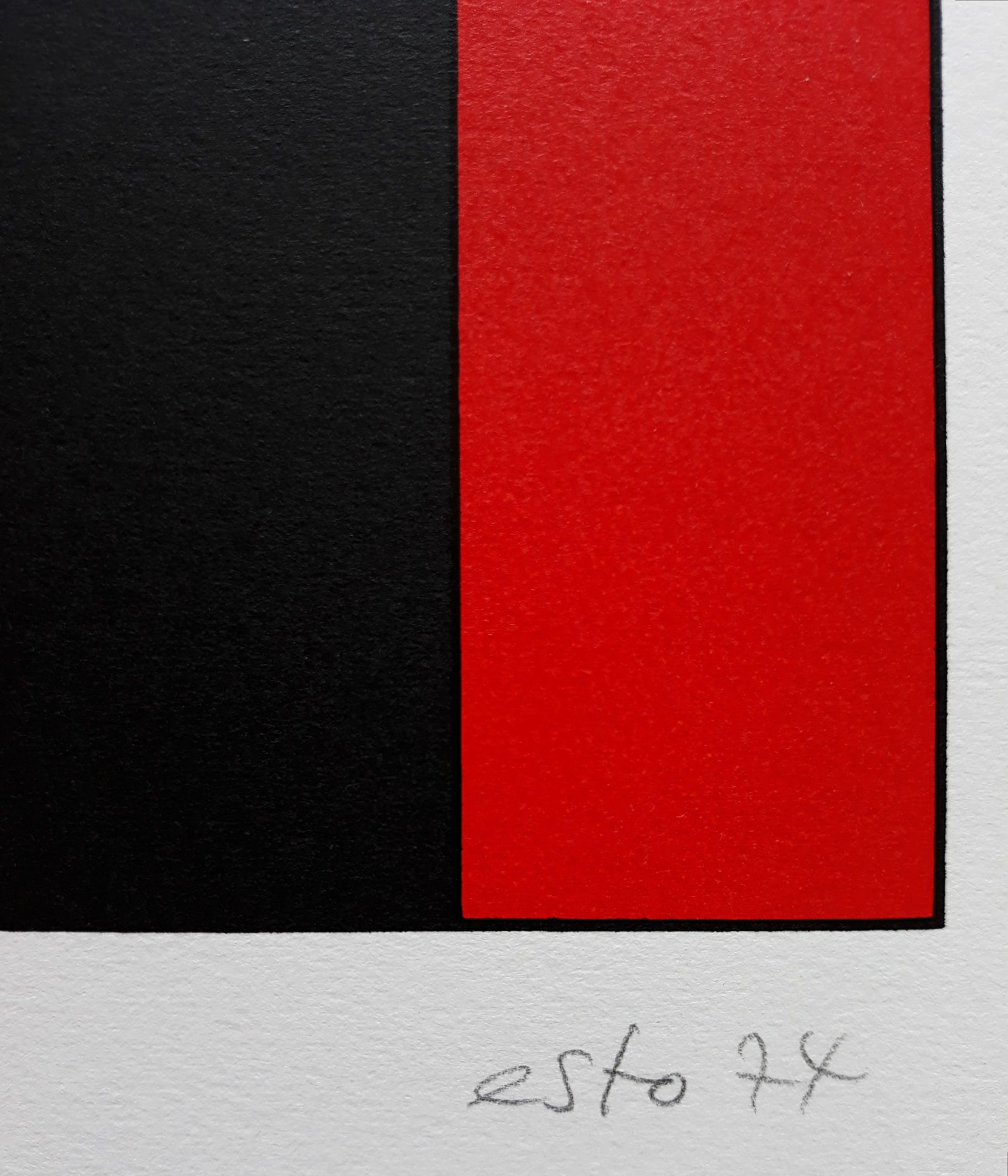 Esto Stobinski - Geometrisch abstract, zeefdruk kopen? Bied vanaf 40!