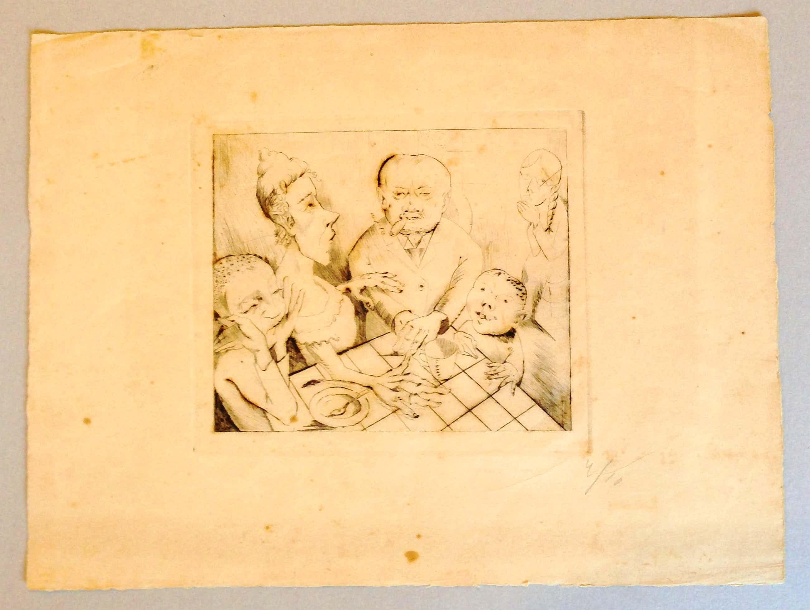 Kurt Beyerlein - Radierung Die Familie 1924 kopen? Bied vanaf 165!