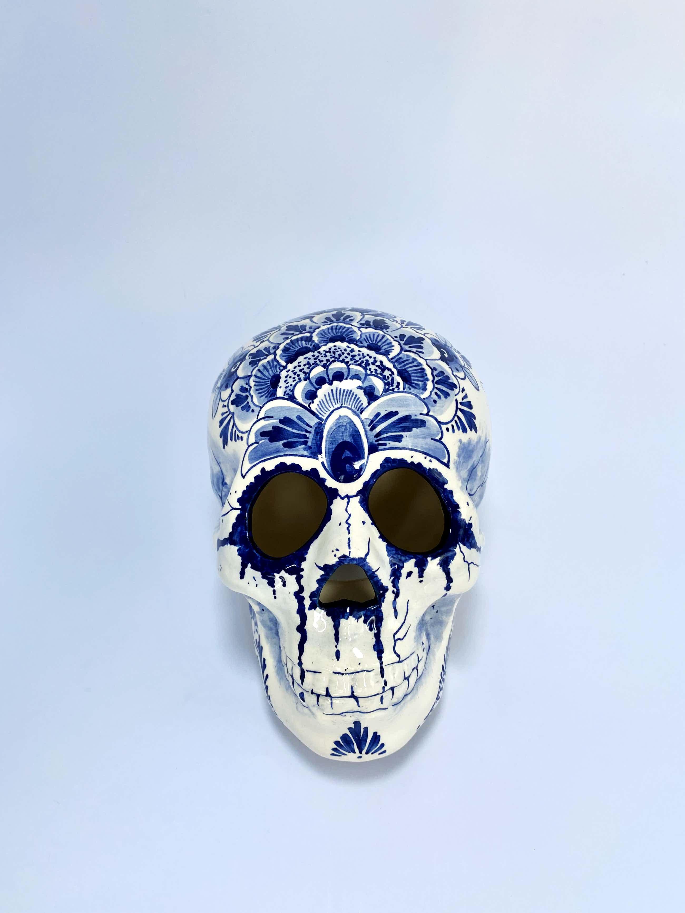 Jan Born - Tattoo Delftblauw Skull kopen? Bied vanaf 130!