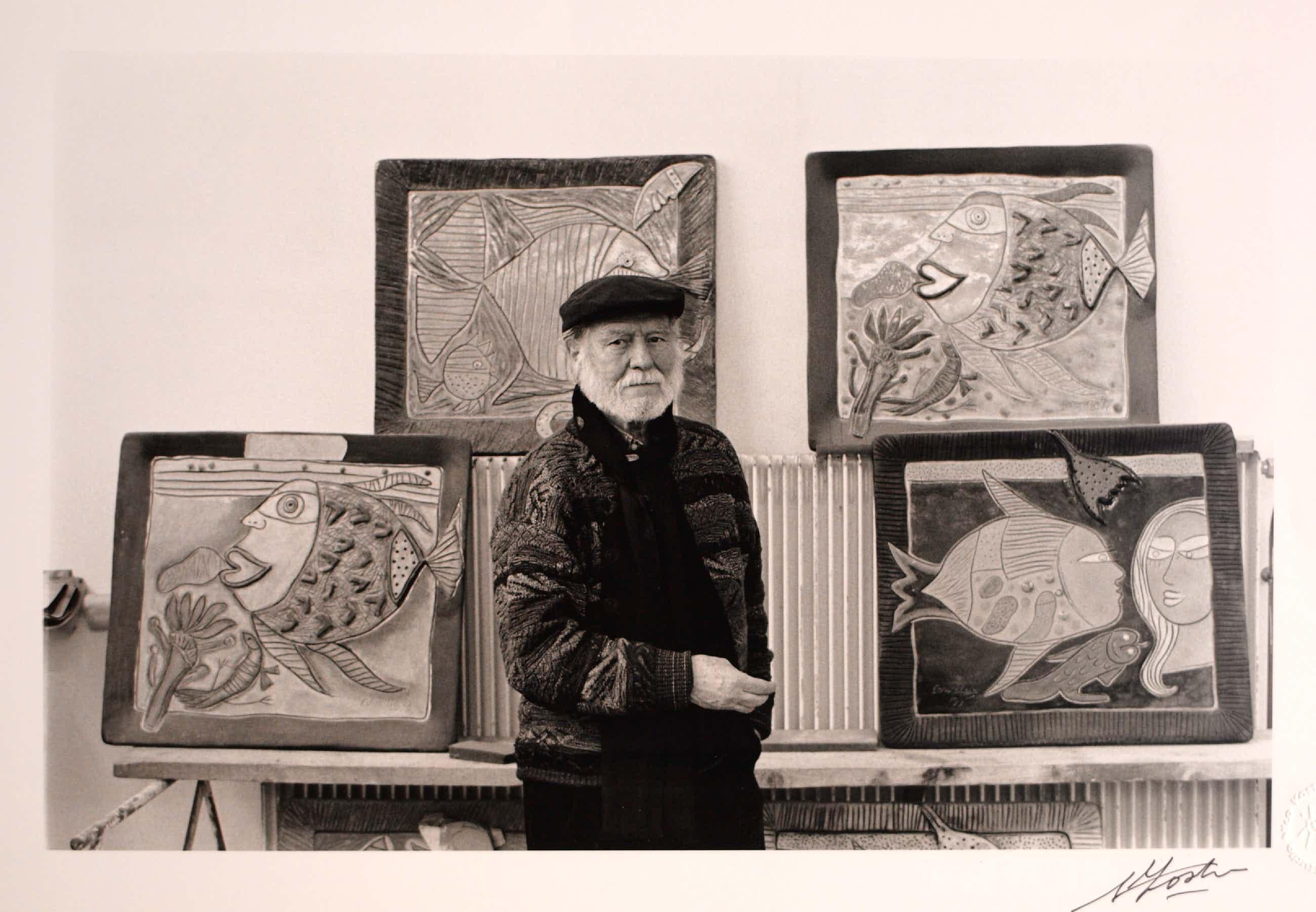Corneille - Foto van Corneille voor 4 schilderijen – Fotograaf: Nico Koster kopen? Bied vanaf 80!