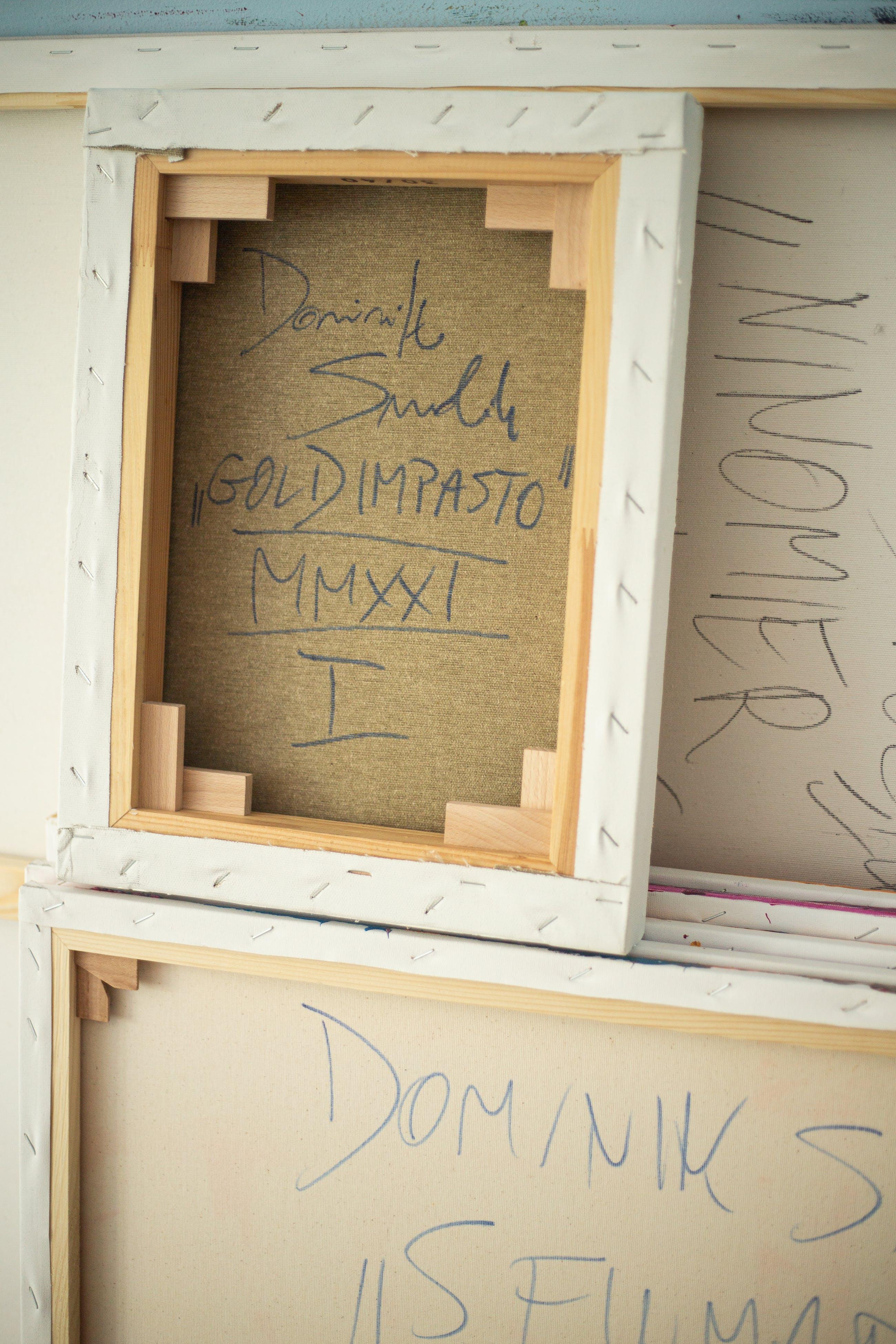 Dominik Smolik - Triptych Gold impasto kopen? Bied vanaf 1!