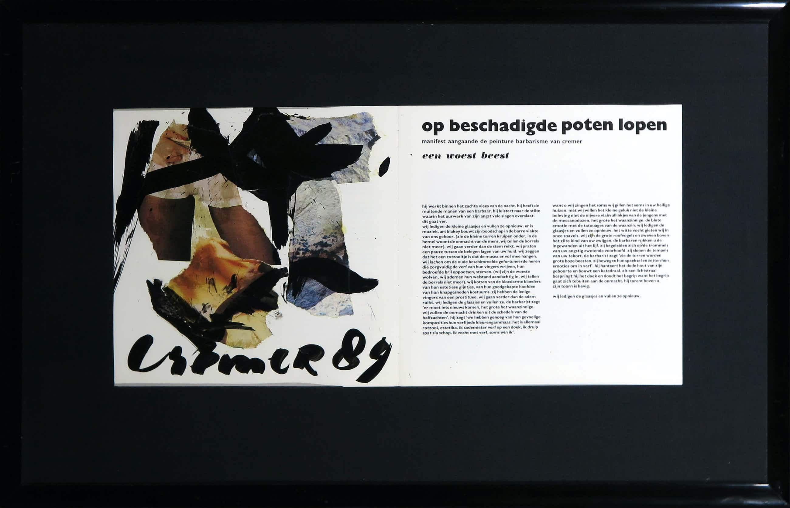 Jan Cremer - Collage, Tentoonstellingscatalogus - Ingelijst kopen? Bied vanaf 120!
