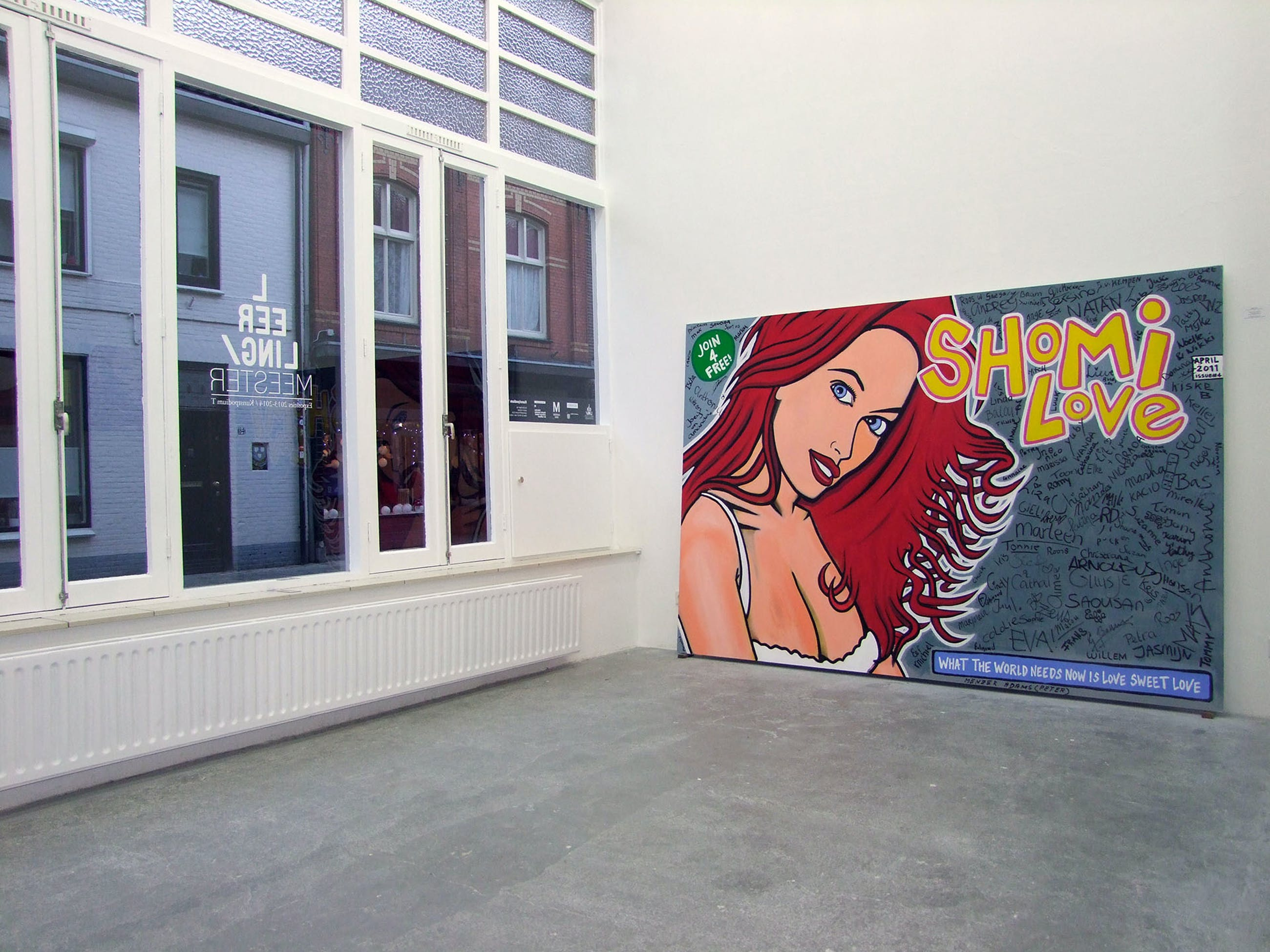 Tommy Raaijmakers - Shomi Love - Bijzonder groot schilderij! kopen? Bied vanaf 675!