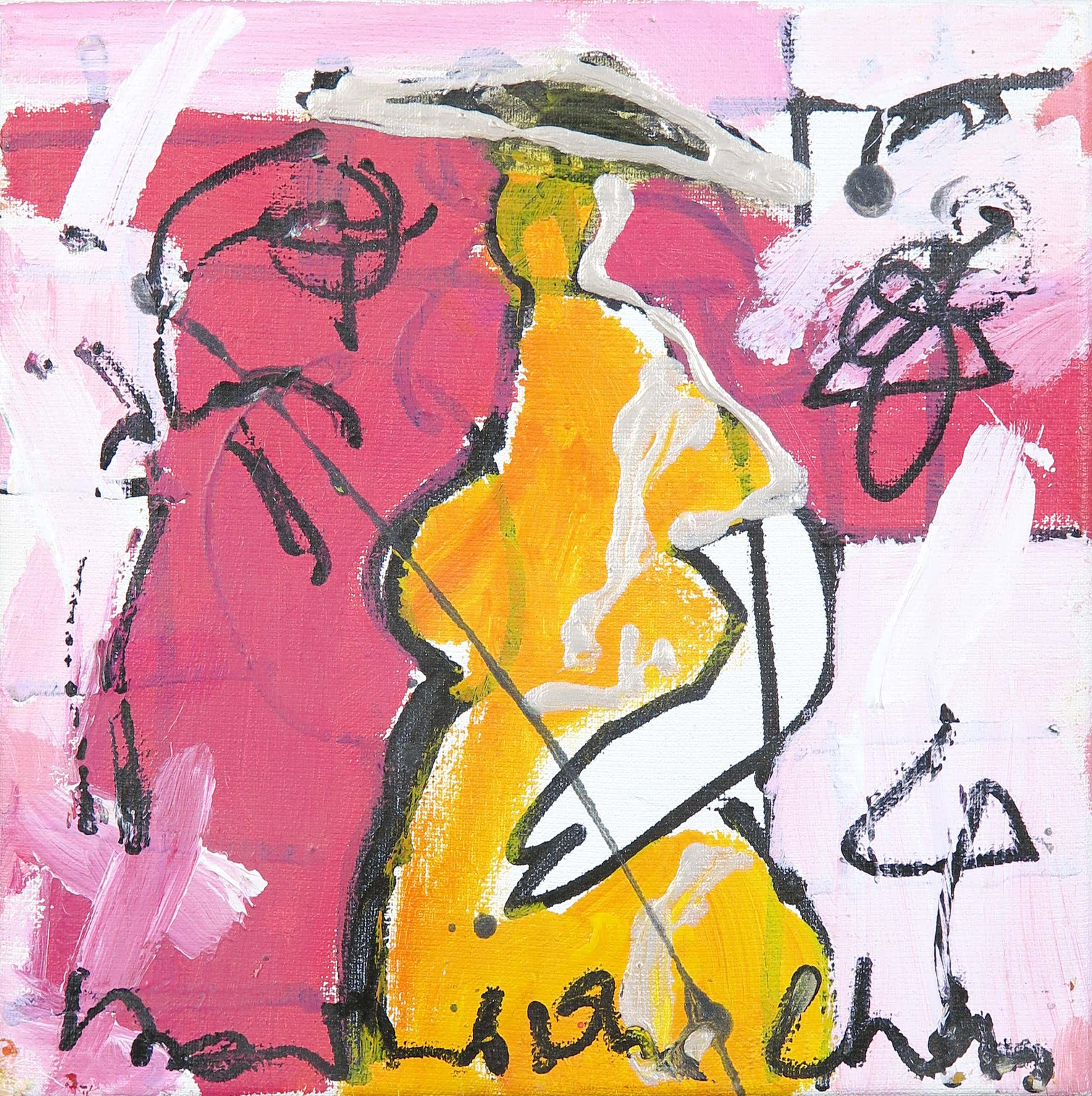 Dominique Chan - Acryl op doek, Z.T. Abstracte compositie kopen? Bied vanaf 35!