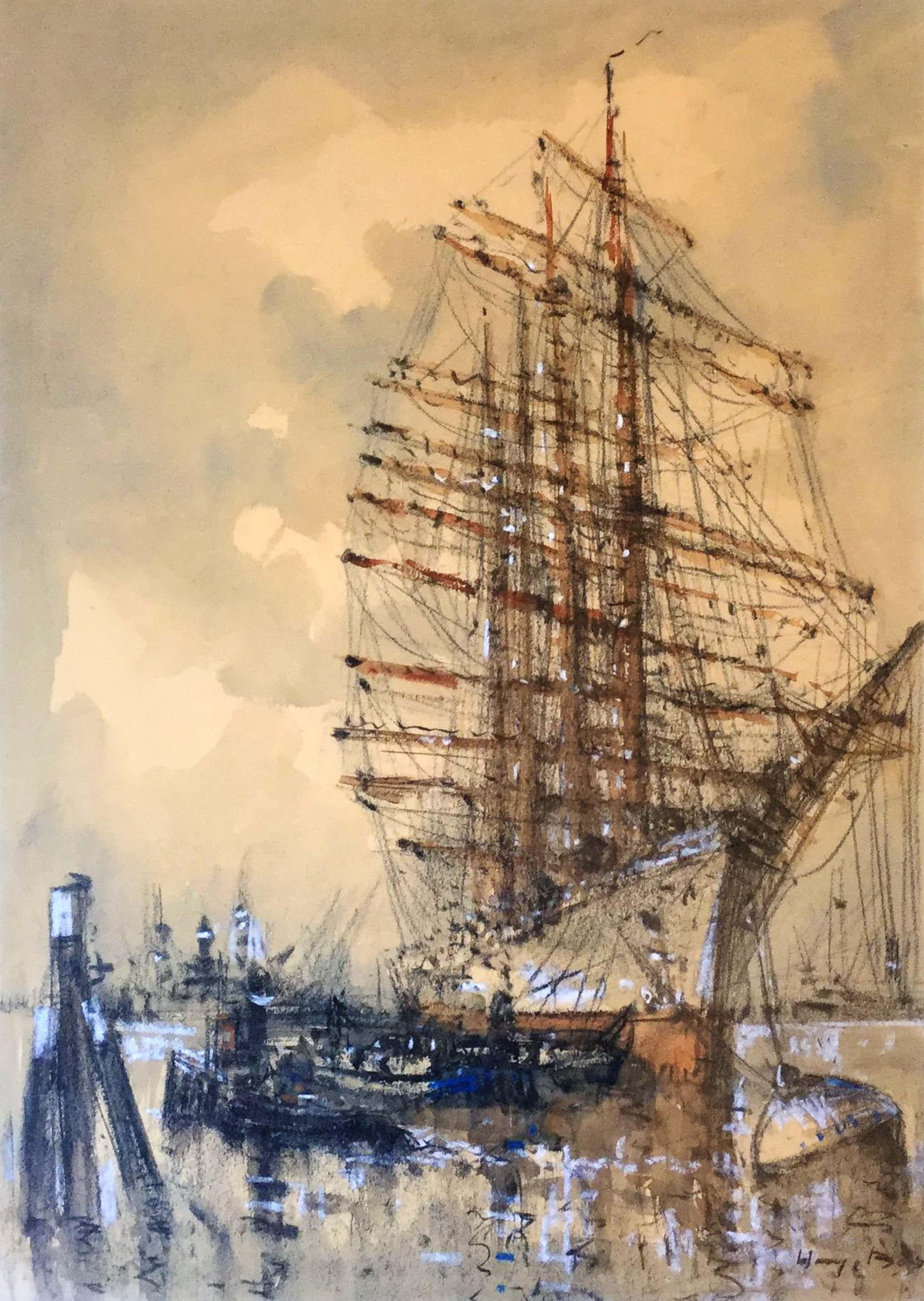 Willem Bos - C4773, Schoener in de haven van Rotterdam kopen? Bied vanaf 200!