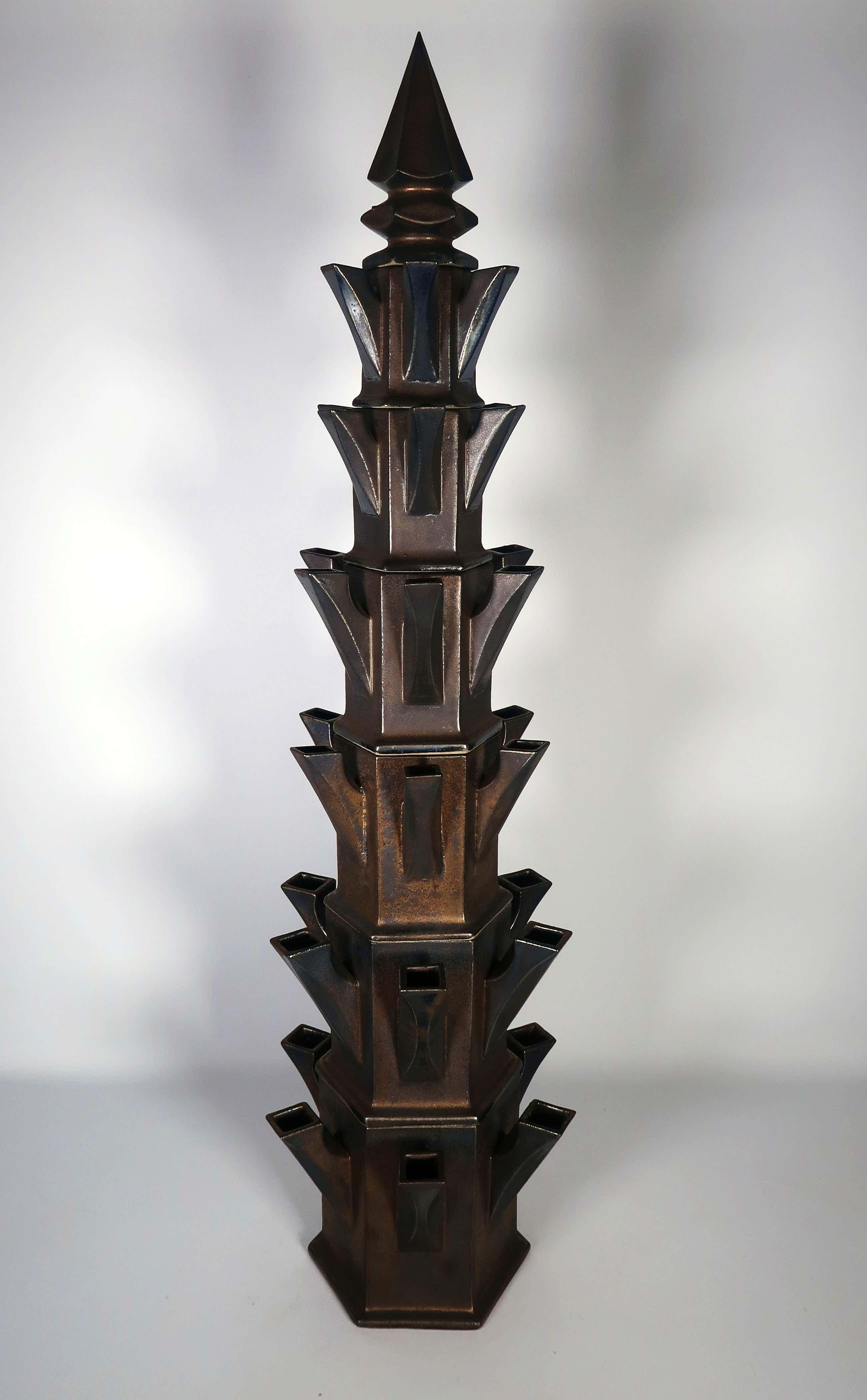 Jan van der Vaart - Geglazuurd aardewerk, Monumentale tulpentoren (Zeer groot) kopen? Bied vanaf 7300!