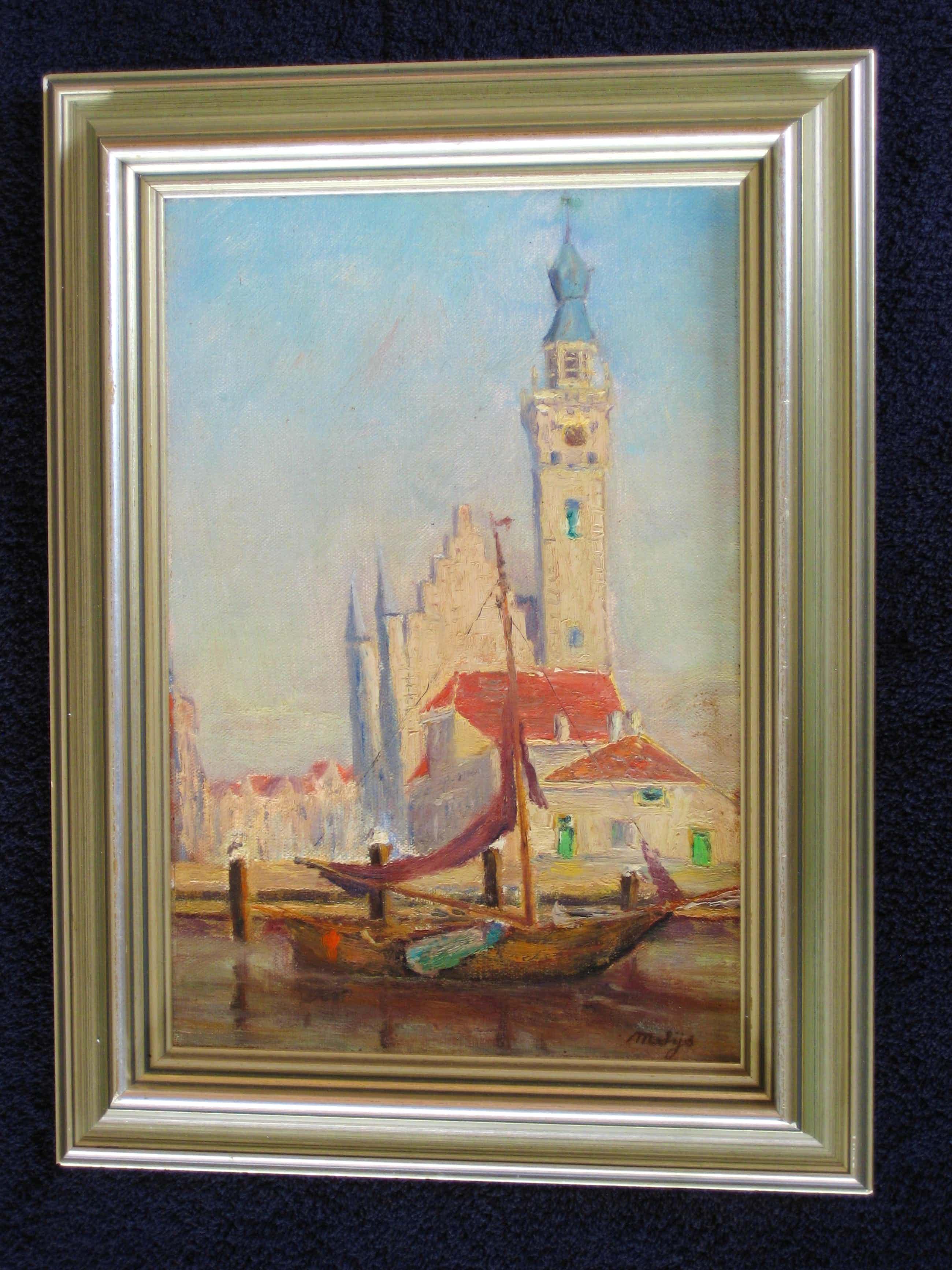 Maurice Sijs - Zicht op Veere (Zeeland). kopen? Bied vanaf 395!