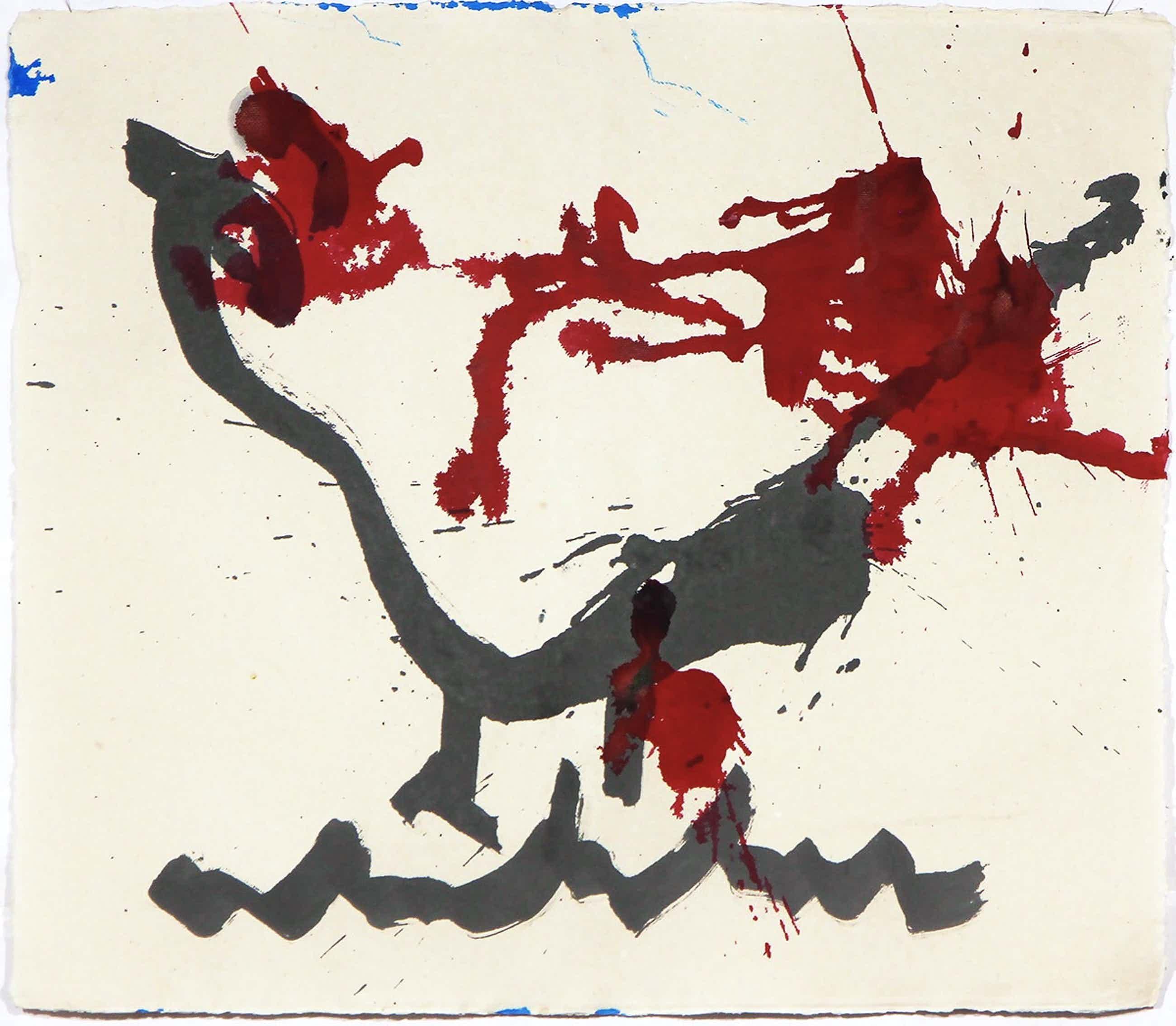 Anton Heyboer - 'Kip' - Oost Indische inkt en acryl op molenpapier - 1990 kopen? Bied vanaf 225!