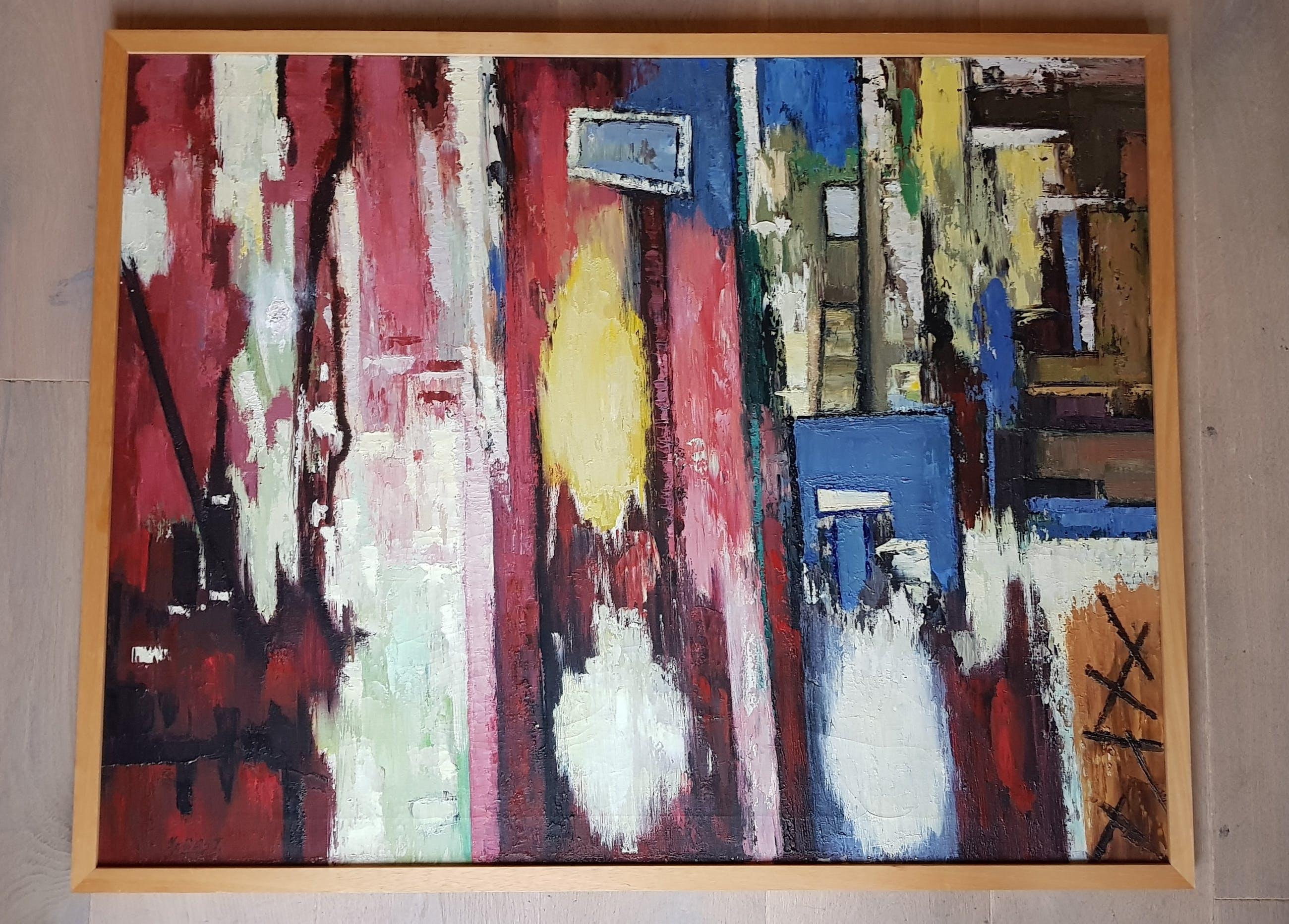Johannes Jacobus van Oost - abstract - acryl op doek, gesigneerd kopen? Bied vanaf 1!