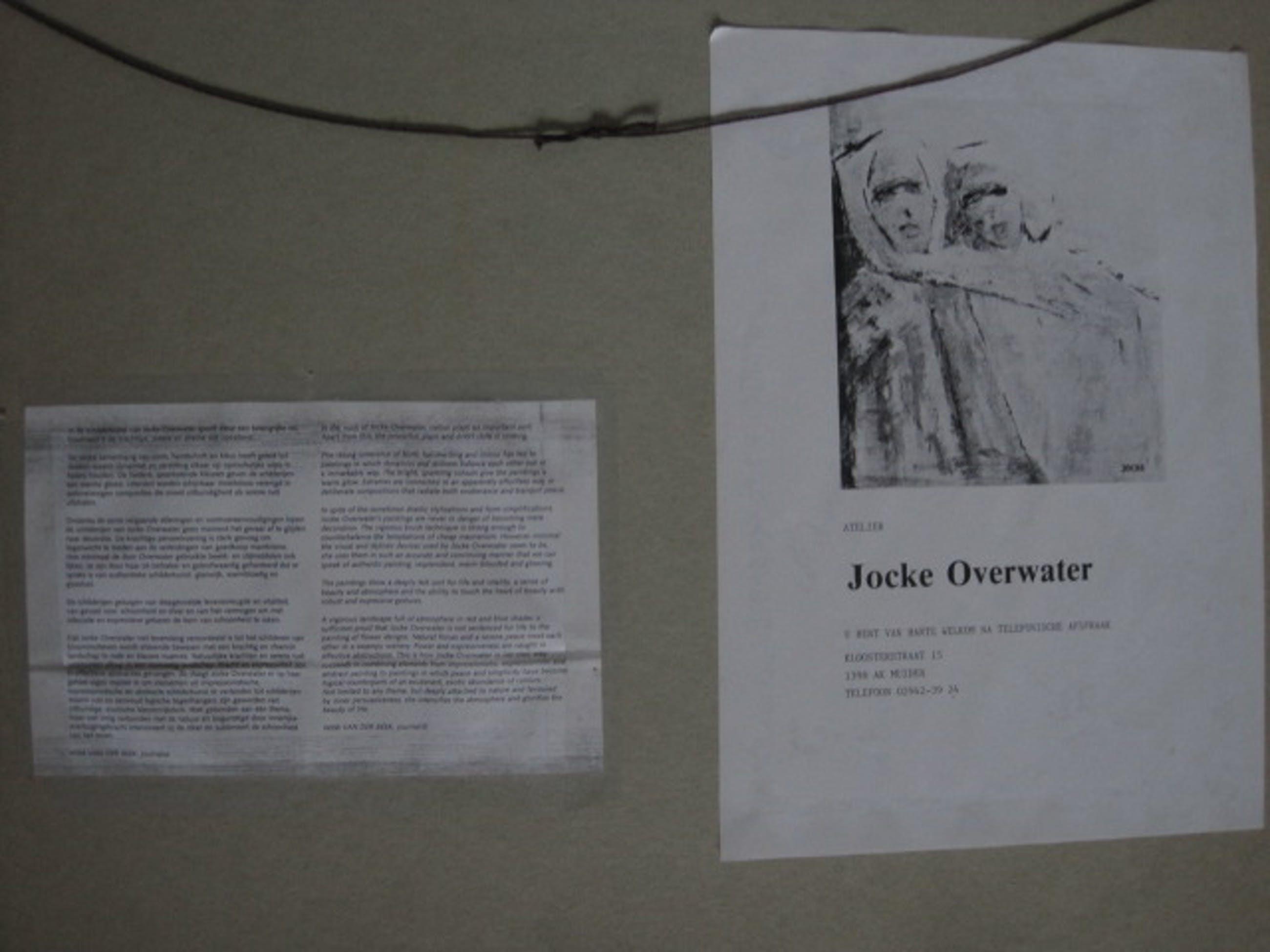 """Jocke Overwater - Fraai olieverf """"Lenteboeket in glazen vaas"""" gesigneerd kopen? Bied vanaf 40!"""