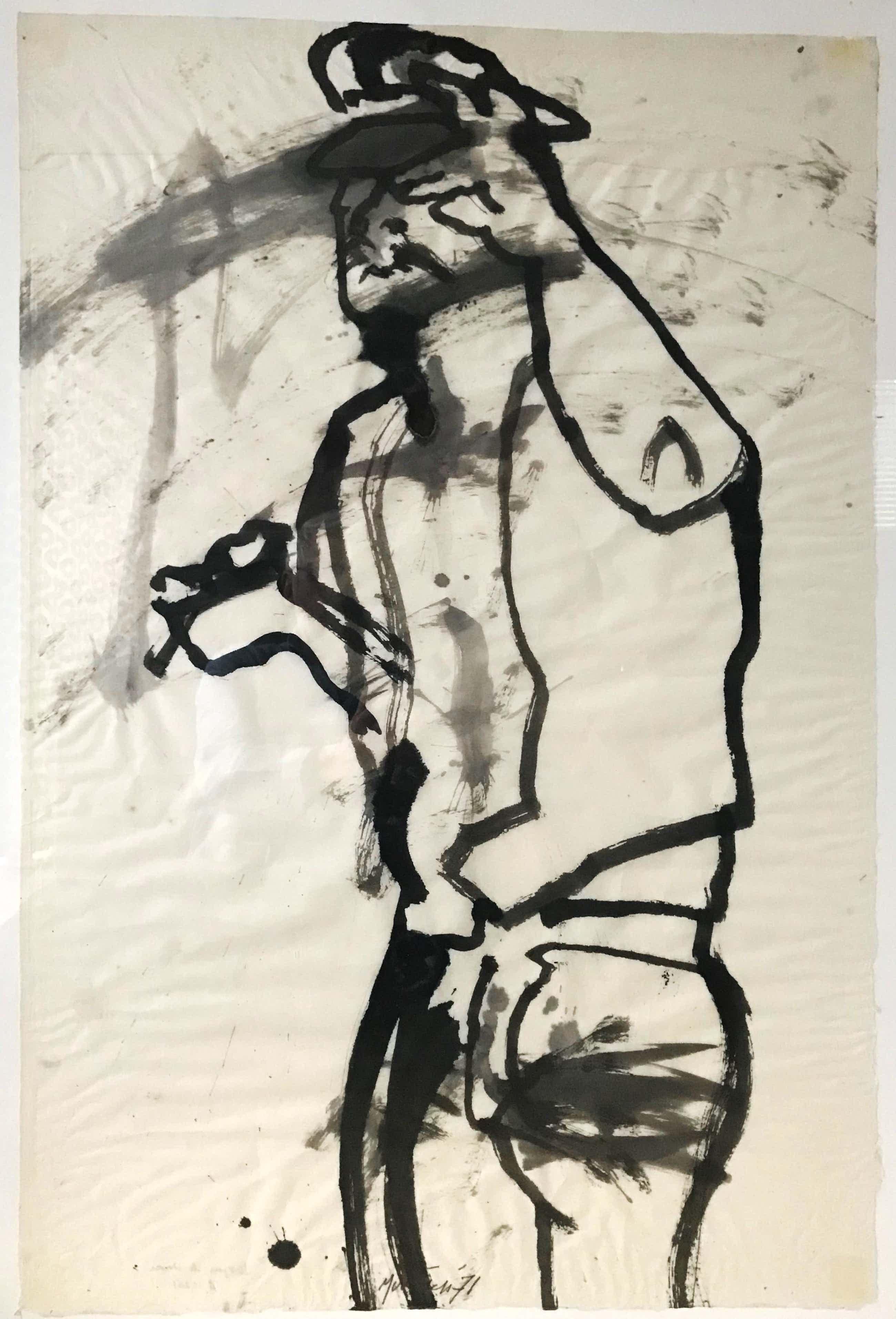 Jurjen de Haan - Prachtig uniek werk - Inkt / aquarel op papier - 1971 kopen? Bied vanaf 40!