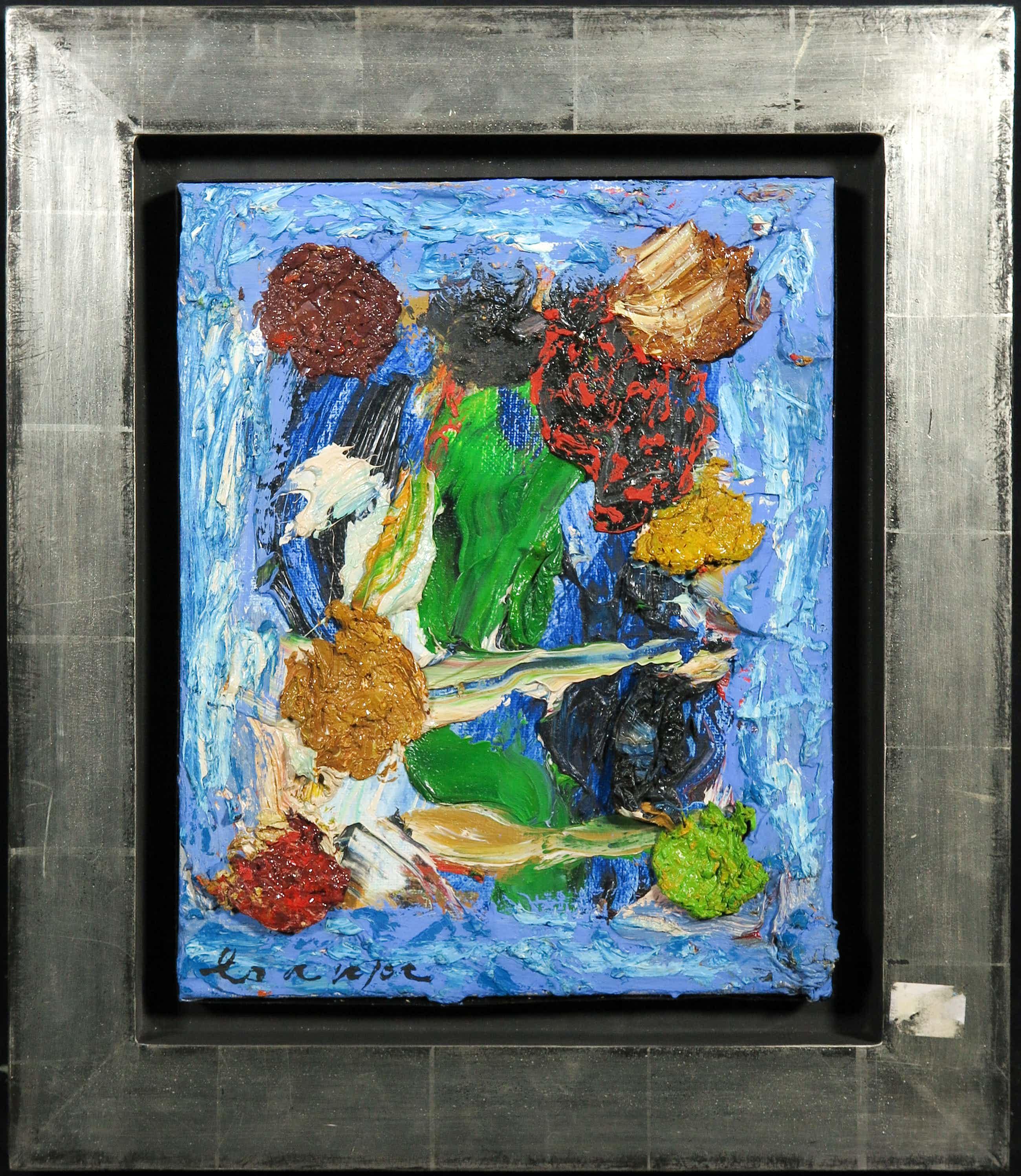 Guillaume Lo-A-Njoe - Olieverf op doek, Abstracte compositie - Ingelijst kopen? Bied vanaf 250!