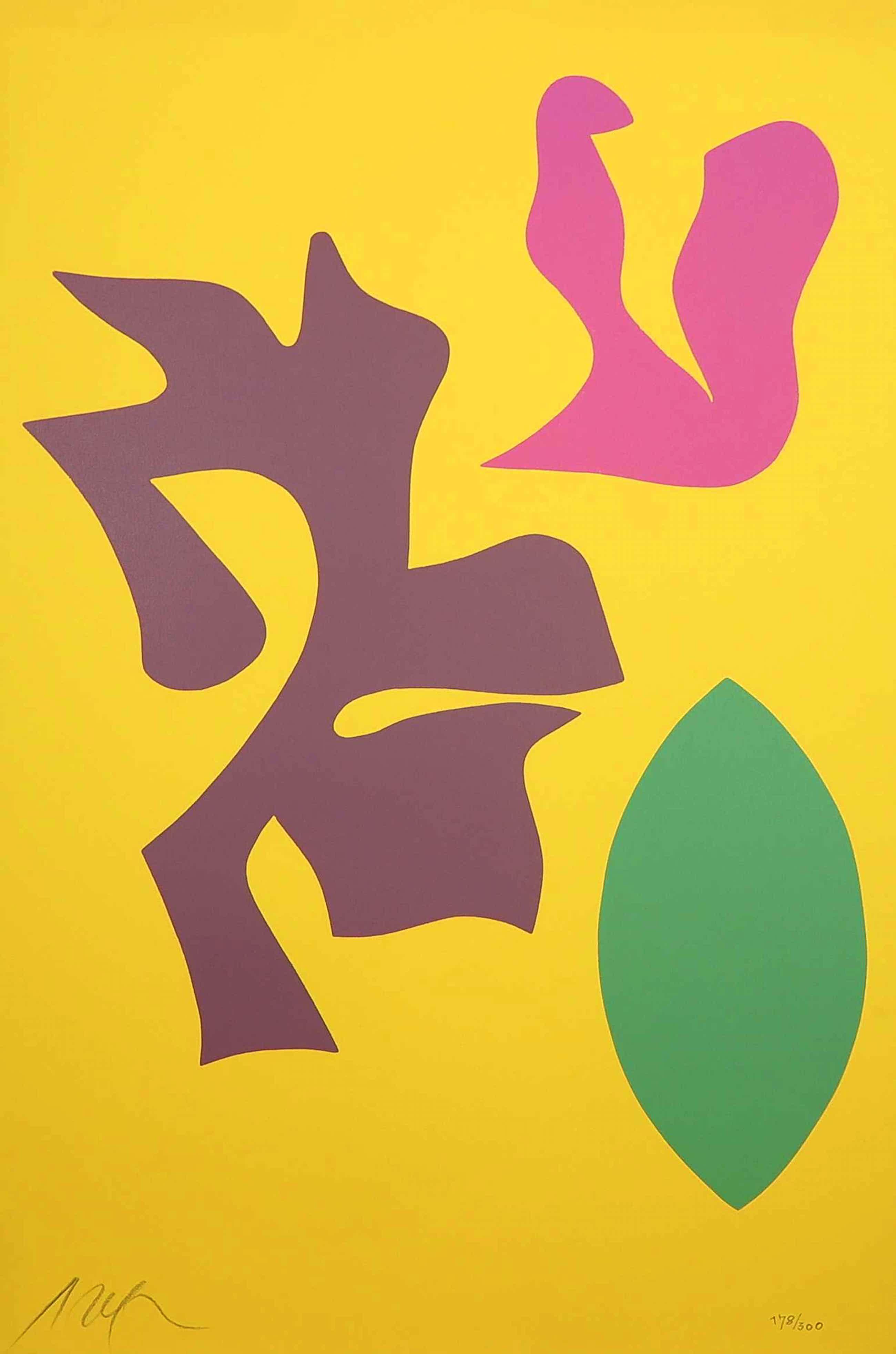 Hans Arp - Houtsnede uit portfolio Documenta Geigy. Das Unbehagen in der Kunst (1965) kopen? Bied vanaf 400!