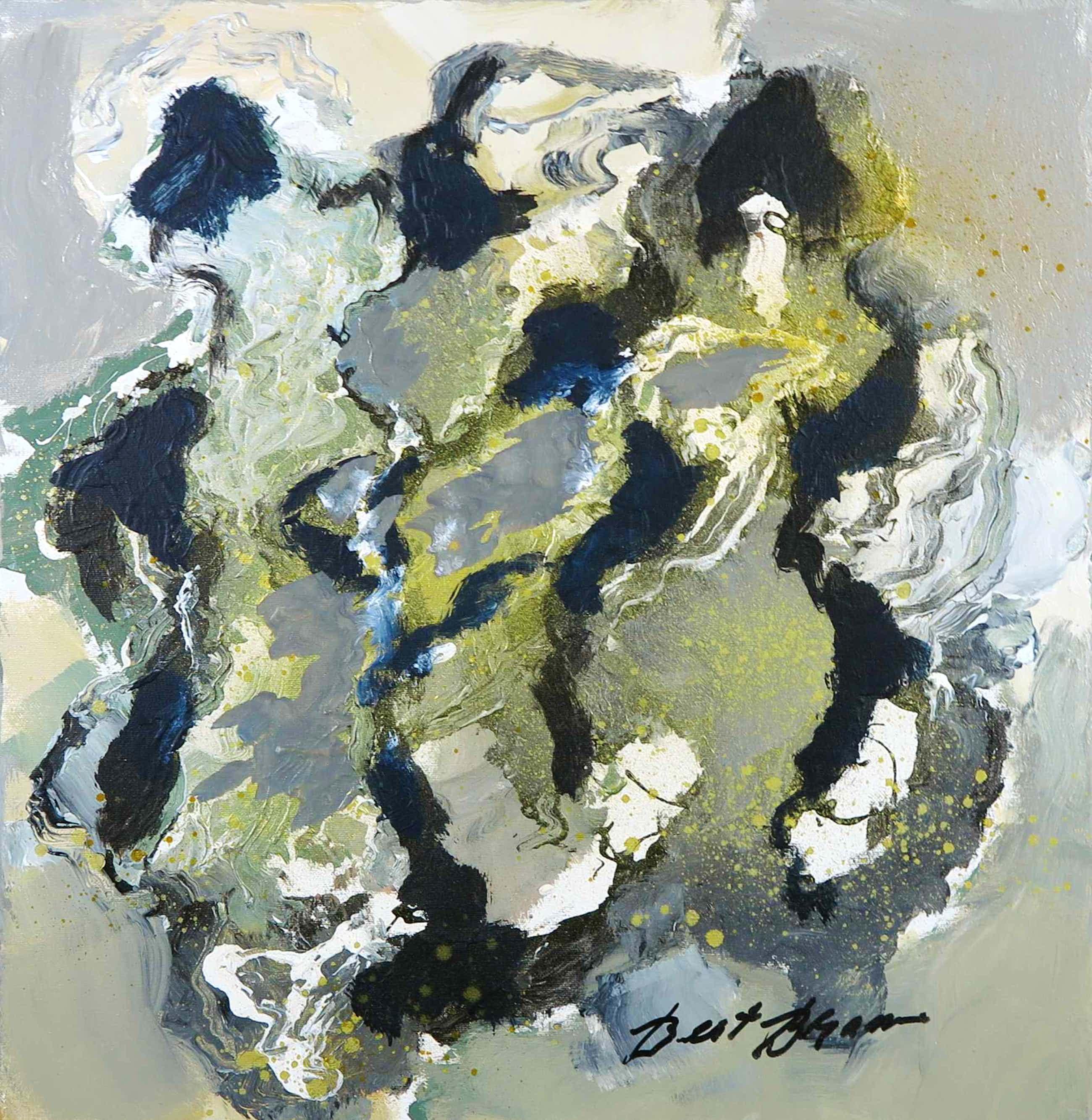 Bert Braam - Acryl op doek, Abstracte compositie kopen? Bied vanaf 1!
