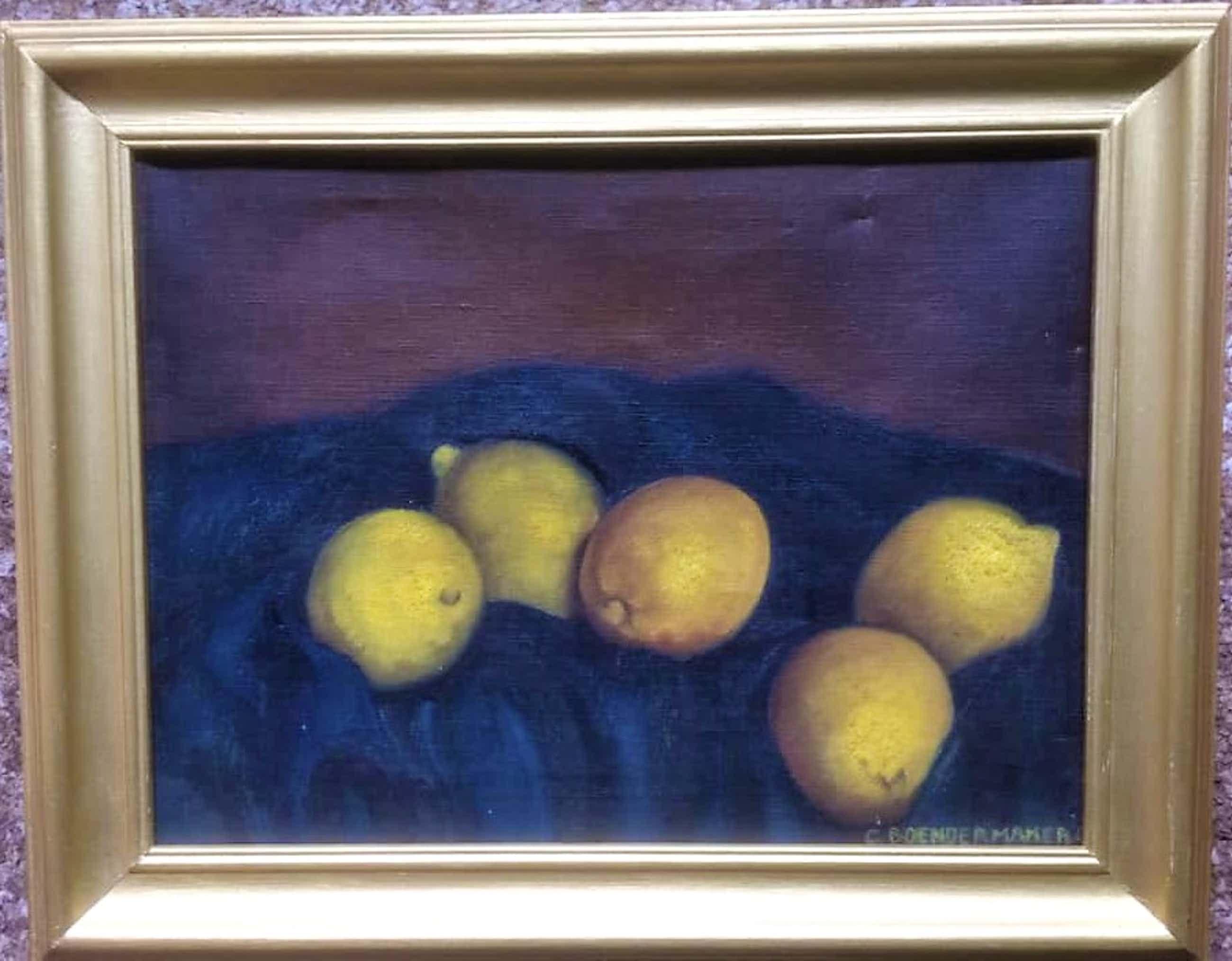 Kees Boendermaker - BERGENSE SCHOOL - Stilleven met citroenen 1943 kopen? Bied vanaf 125!
